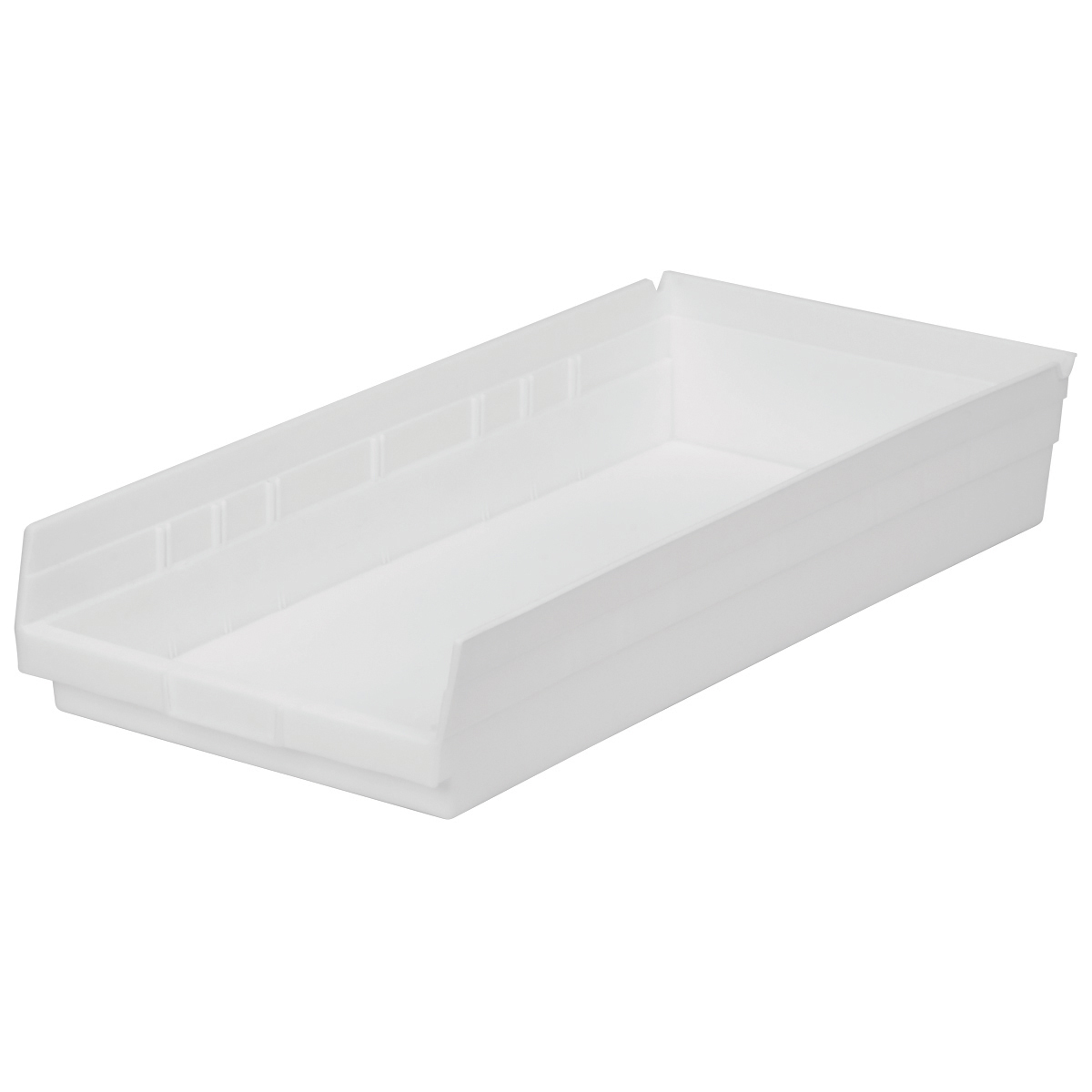 Shelf Bin 23-5/8 x 11-1/8 x 4, White (30174WHITE).  This item sold in carton quantities of 6.