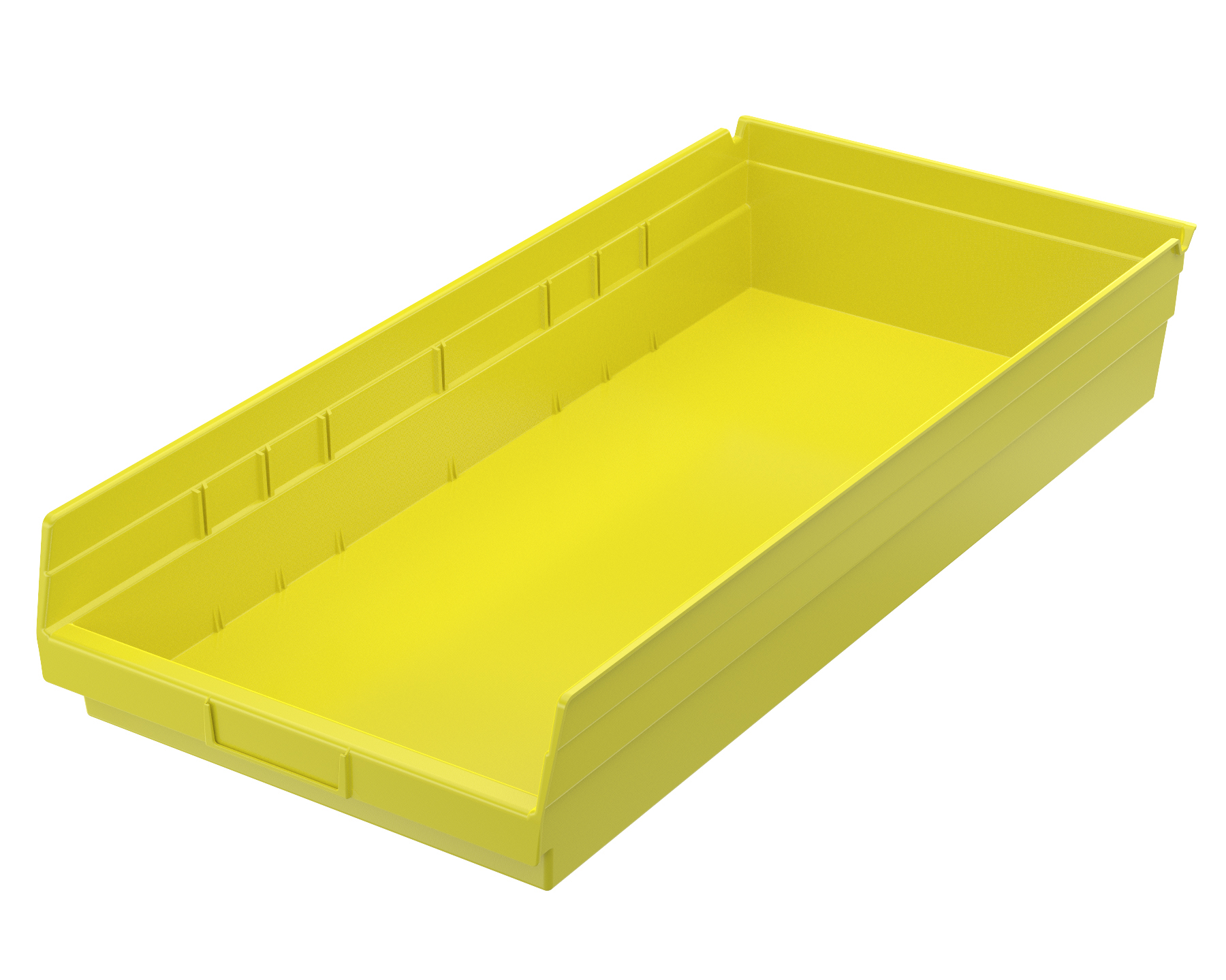 Shelf Bin 23-5/8 x 11-1/8 x 4, Yellow (30174YELLO).  This item sold in carton quantities of 6.