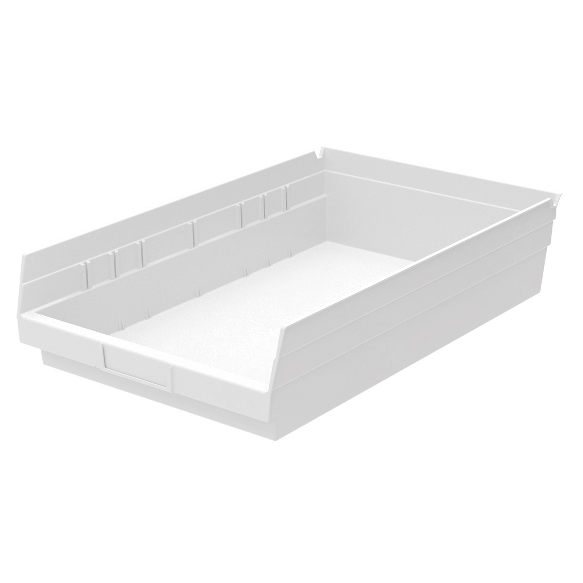 Shelf Bin 17-7/8 x 11-1/8 x 4, White (30178WHITE).  This item sold in carton quantities of 12.