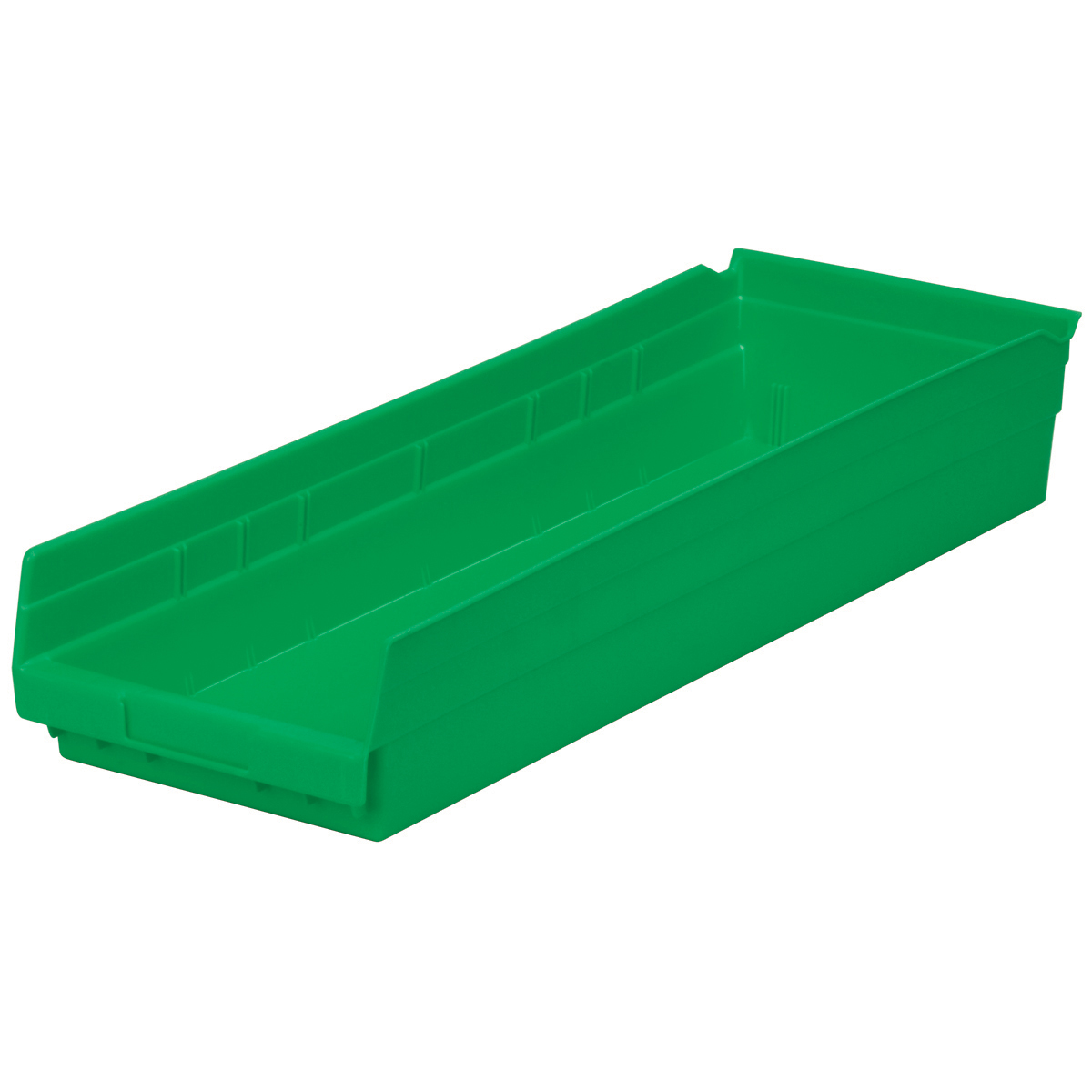 Shelf Bin 23-5/8 x 8-3/8 x 4, Green (30184GREEN).  This item sold in carton quantities of 6.