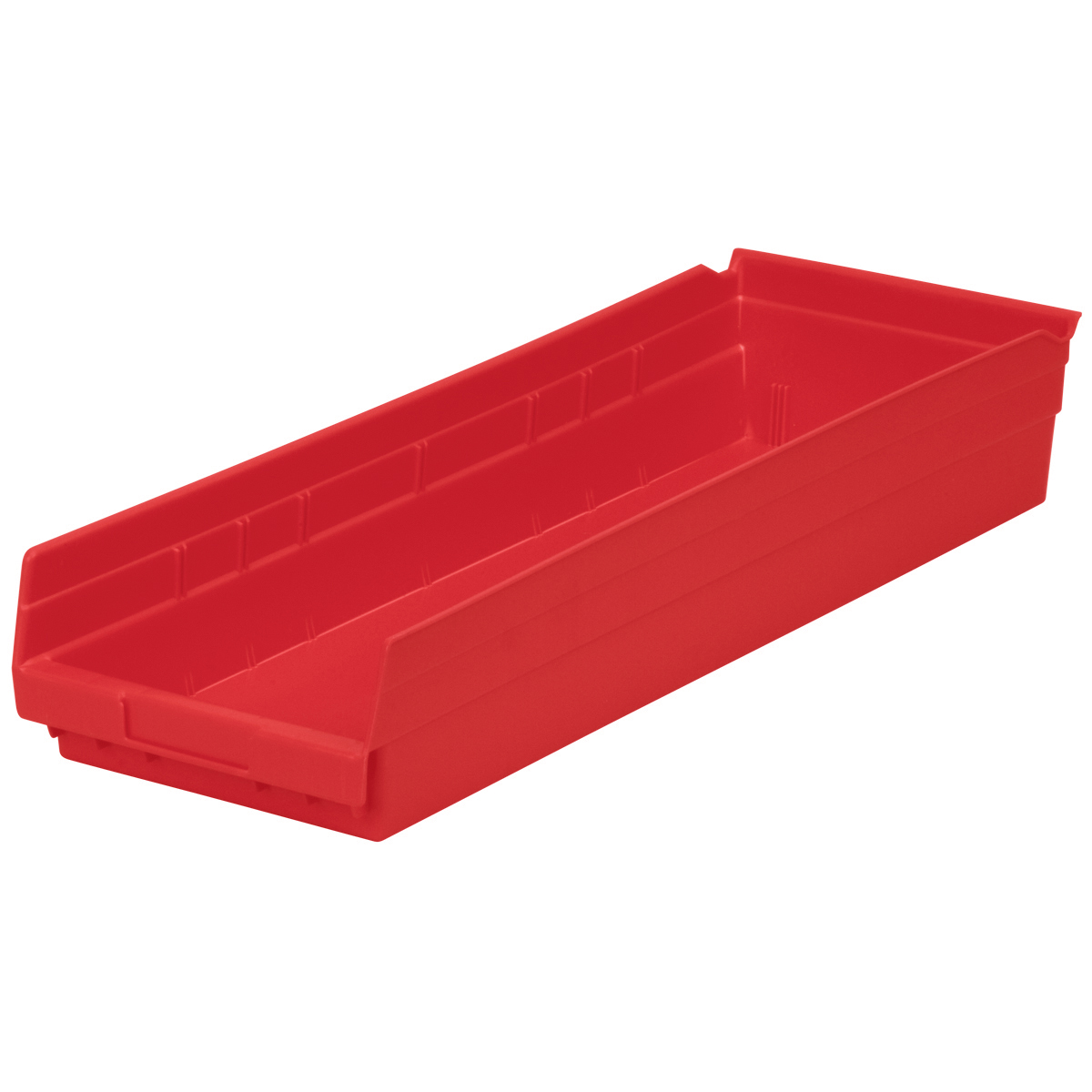 Shelf Bin 23-5/8 x 8-3/8 x 4, Red (30184RED).  This item sold in carton quantities of 6.