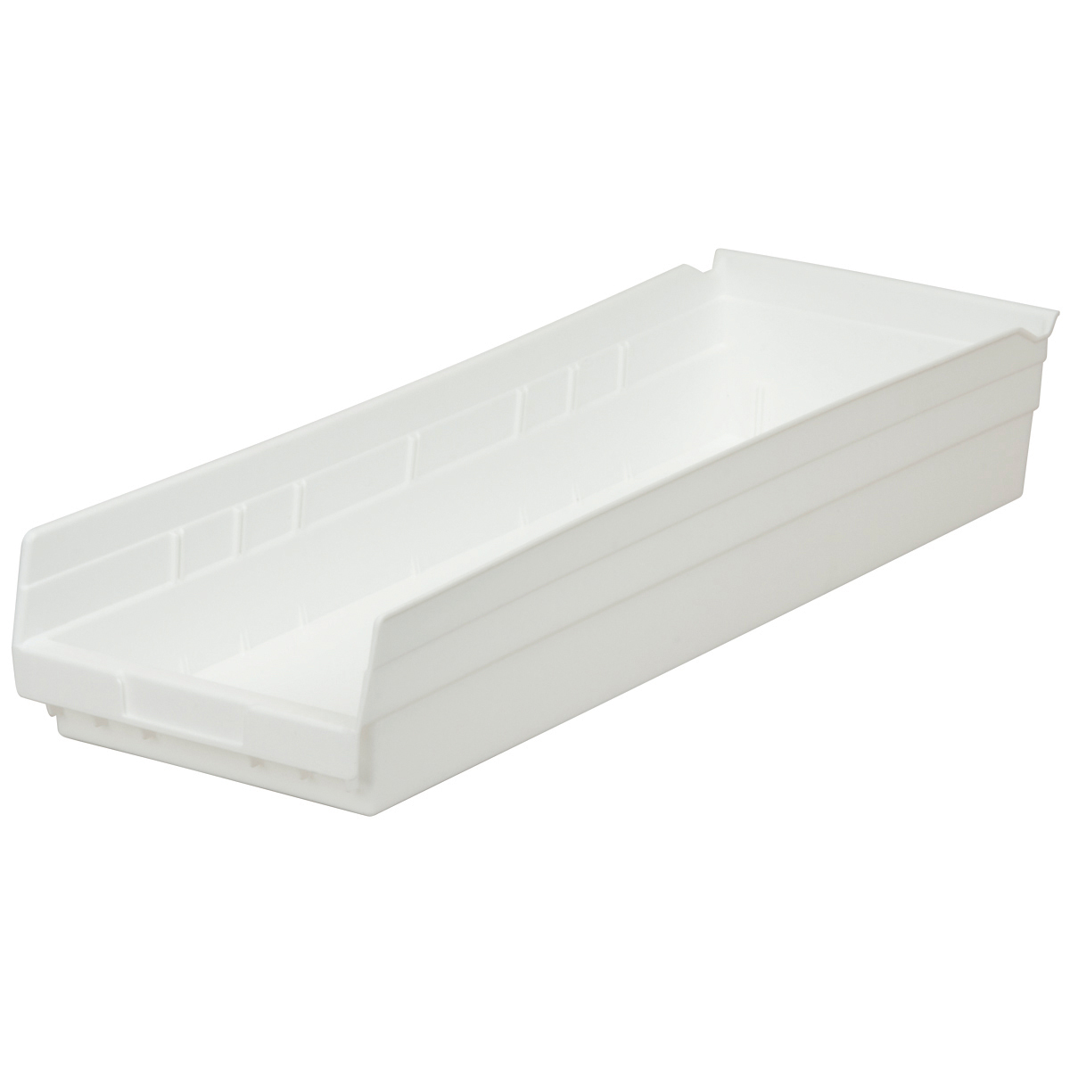 Shelf Bin 23-5/8 x 8-3/8 x 4, White (30184WHITE).  This item sold in carton quantities of 6.