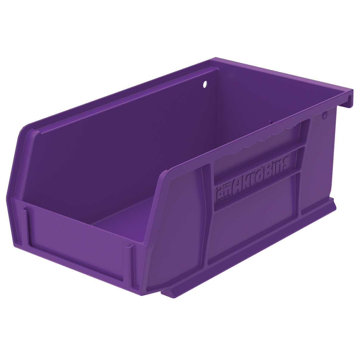 AkroBin 7-3/8 x 4-1/8 x 3, Purple (30220PURPL).  This item sold in carton quantities of 24.