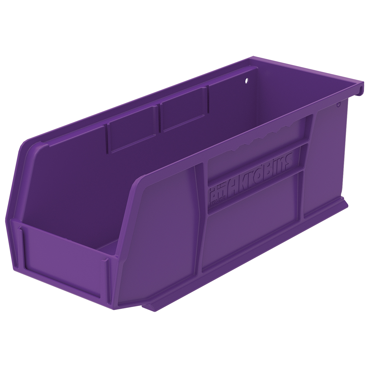 AkroBin 10-7/8 x 4-1/8 x 4, Purple (30224PURPL).  This item sold in carton quantities of 12.