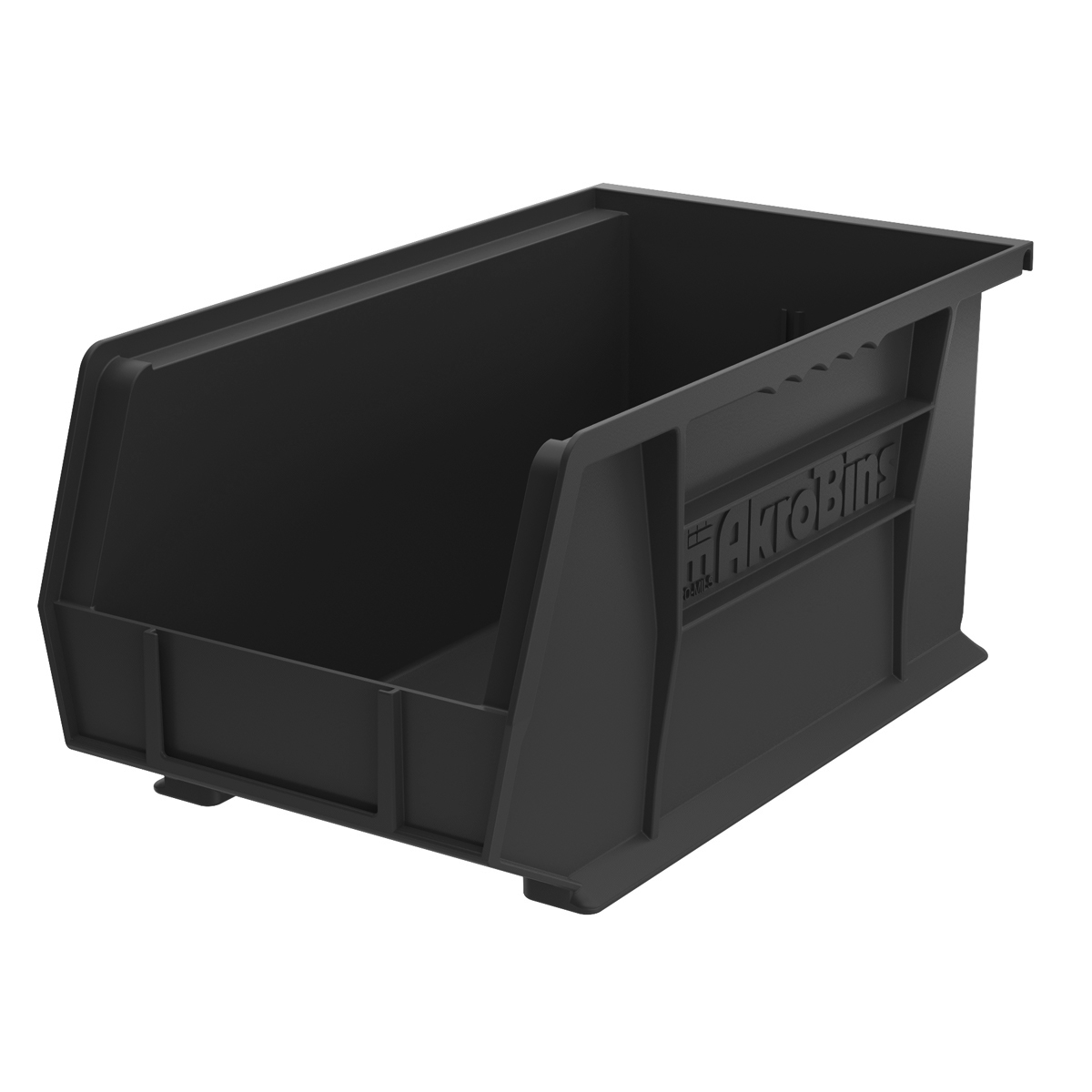 AkroBin 14-3/4 x 8-1/4 x 7, Black (30240BLACK).  This item sold in carton quantities of 12.