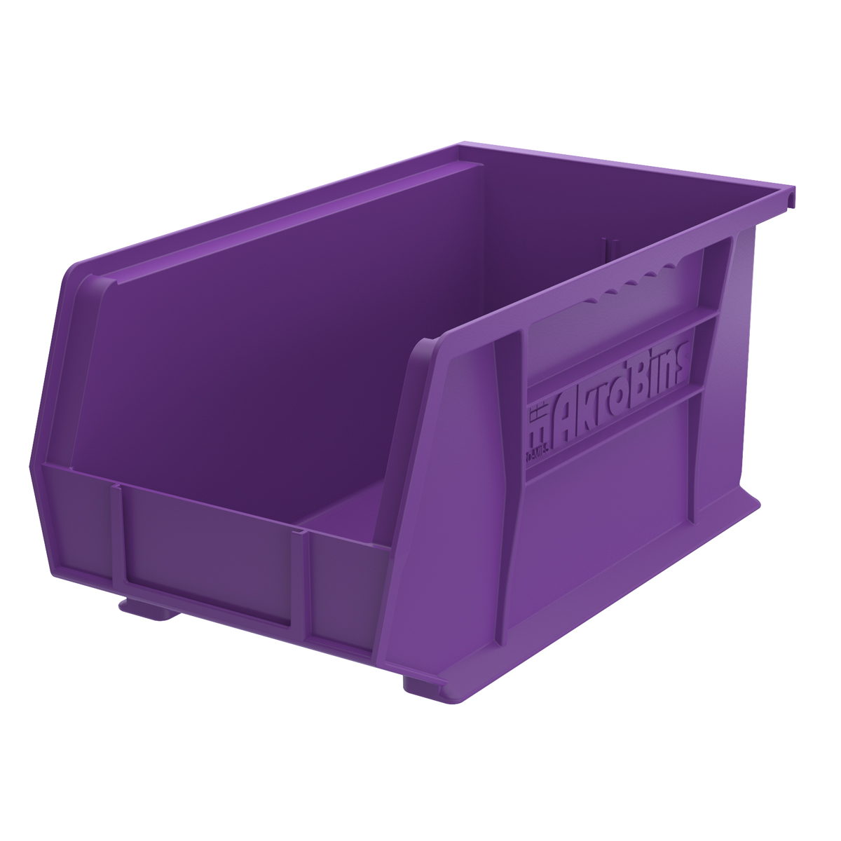 AkroBin 14-3/4 x 8-1/4 x 7, Purple (30240PURPL).  This item sold in carton quantities of 12.