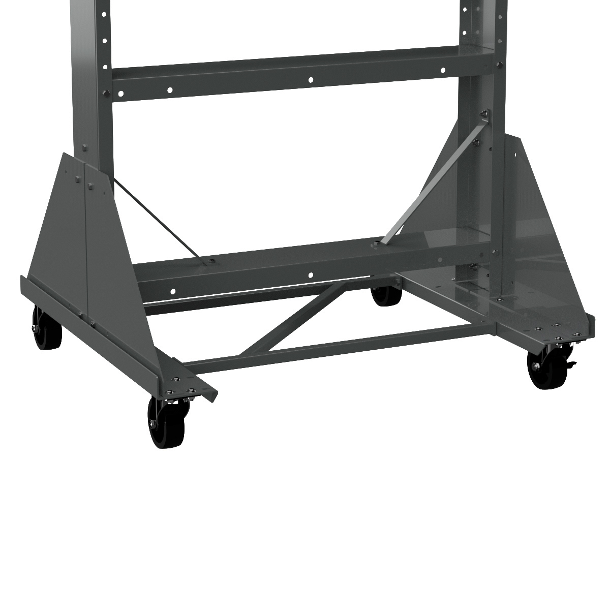 Dolly for Easy Flow Gravity Hopper Rack 31625RACK, Gray (30600DOLLY).  This item sold in carton quantities of 1.