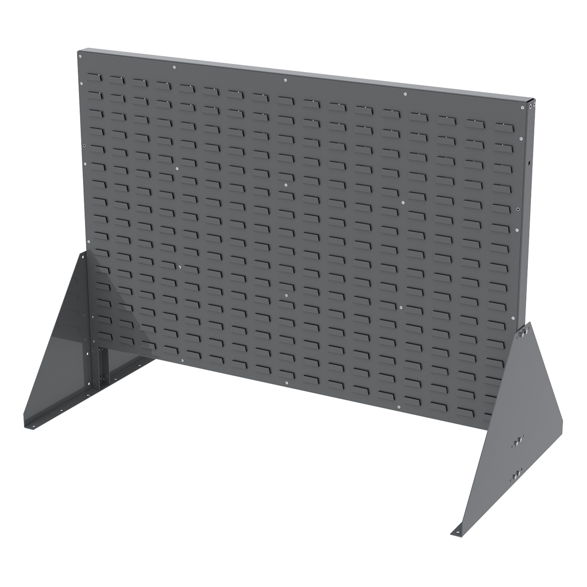 Item DISCONTINUED by Manufacturer.  Low Profile Floor Rack, 2-Sided, No Top Shelf, Gray (30607GY).  This item sold in carton quantities of 1.