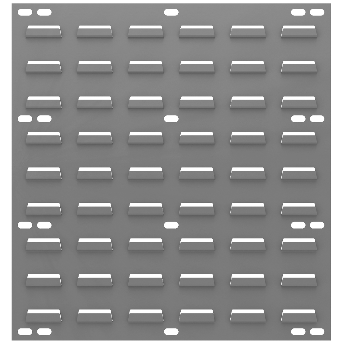 Louvered Wall Panel, 18 x 19, Gray (30618).  This item sold in carton quantities of 4.