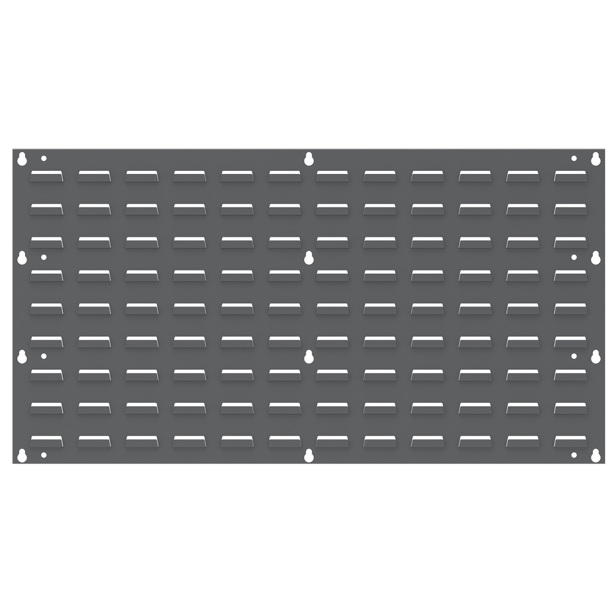 Louvered Wall Panel, 35-3/4 x 19, Gray (30636).  This item sold in carton quantities of 4.