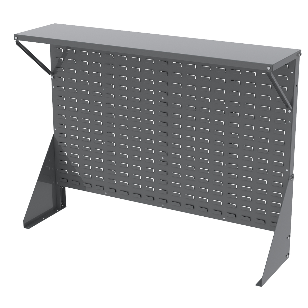 Item DISCONTINUED by Manufacturer.  Low Profile Floor Rack 1-Sided, Shelf for AkroBins, Gray (30650GY).  This item sold in carton quantities of 1.