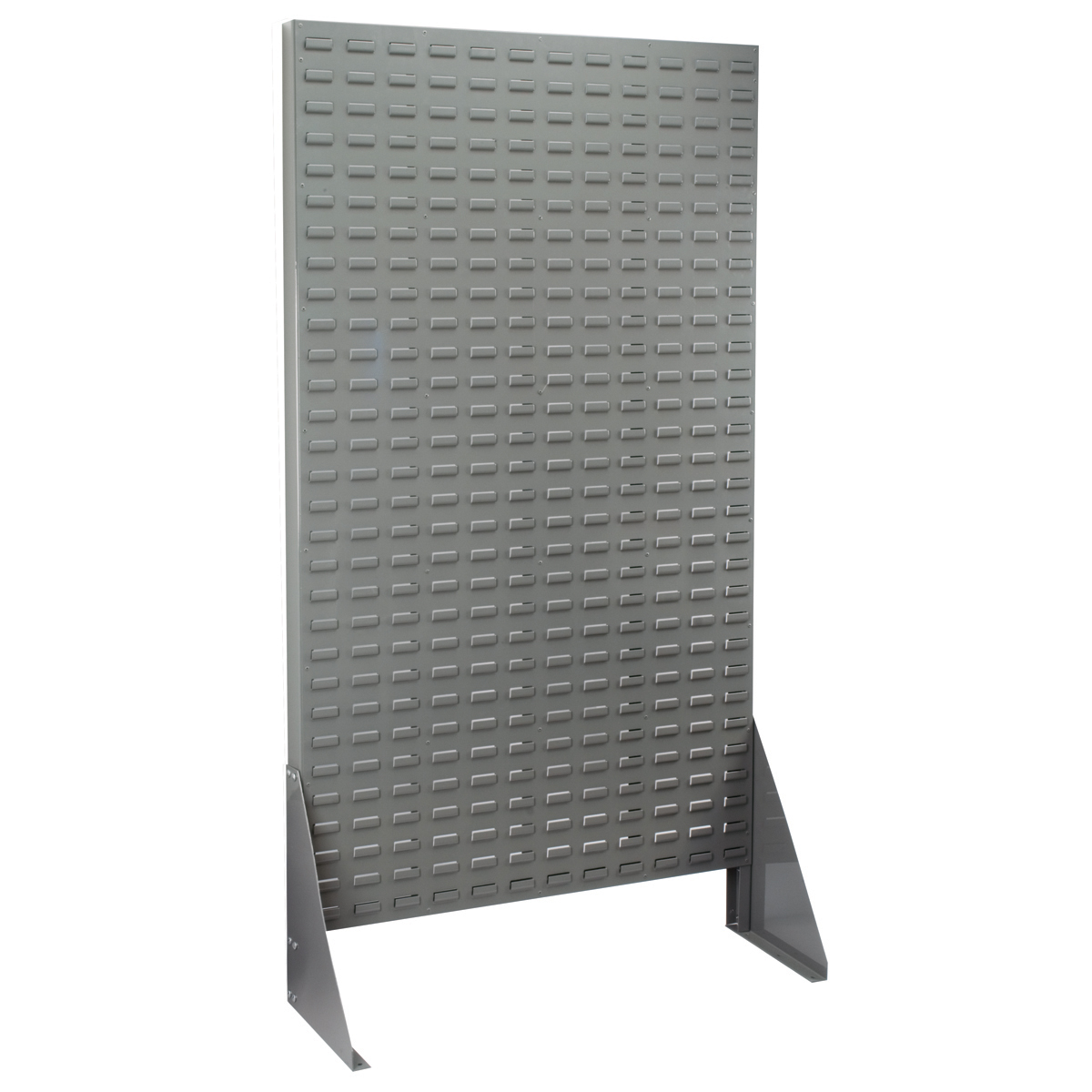 Louvered Rivet Floor Rack, 1-Sided, Gray (30661).  This item sold in carton quantities of 1.