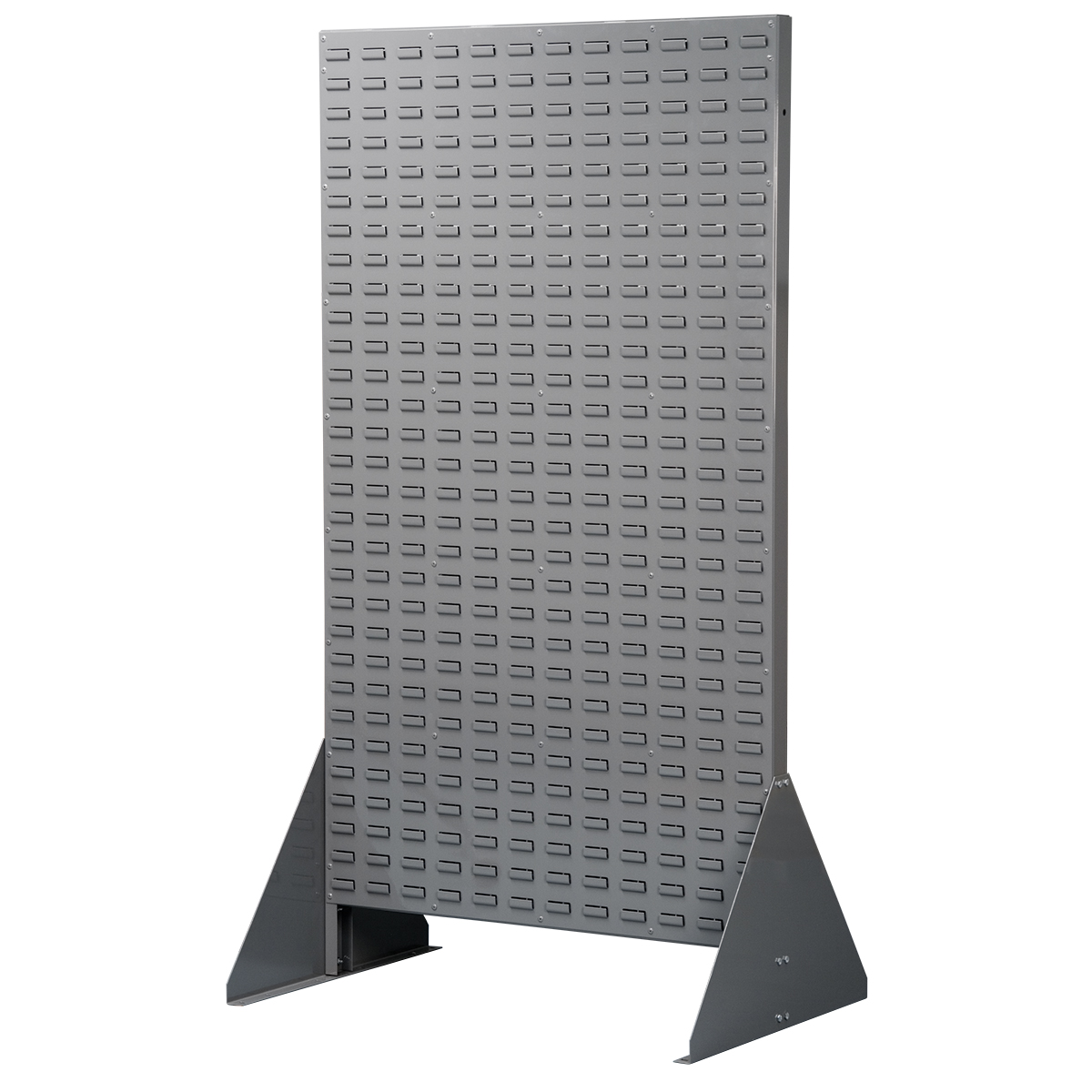 Louvered Rivet Floor Rack, 2-Sided, Gray (30676).  This item sold in carton quantities of 1.