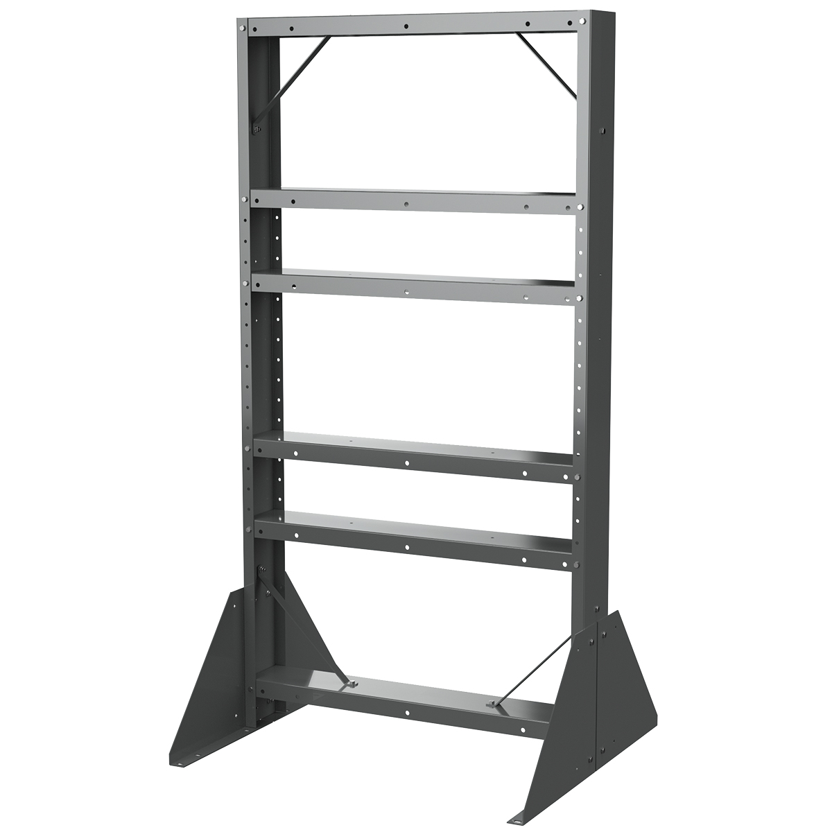 Easy Flow Gravity Hopper Rack, 36