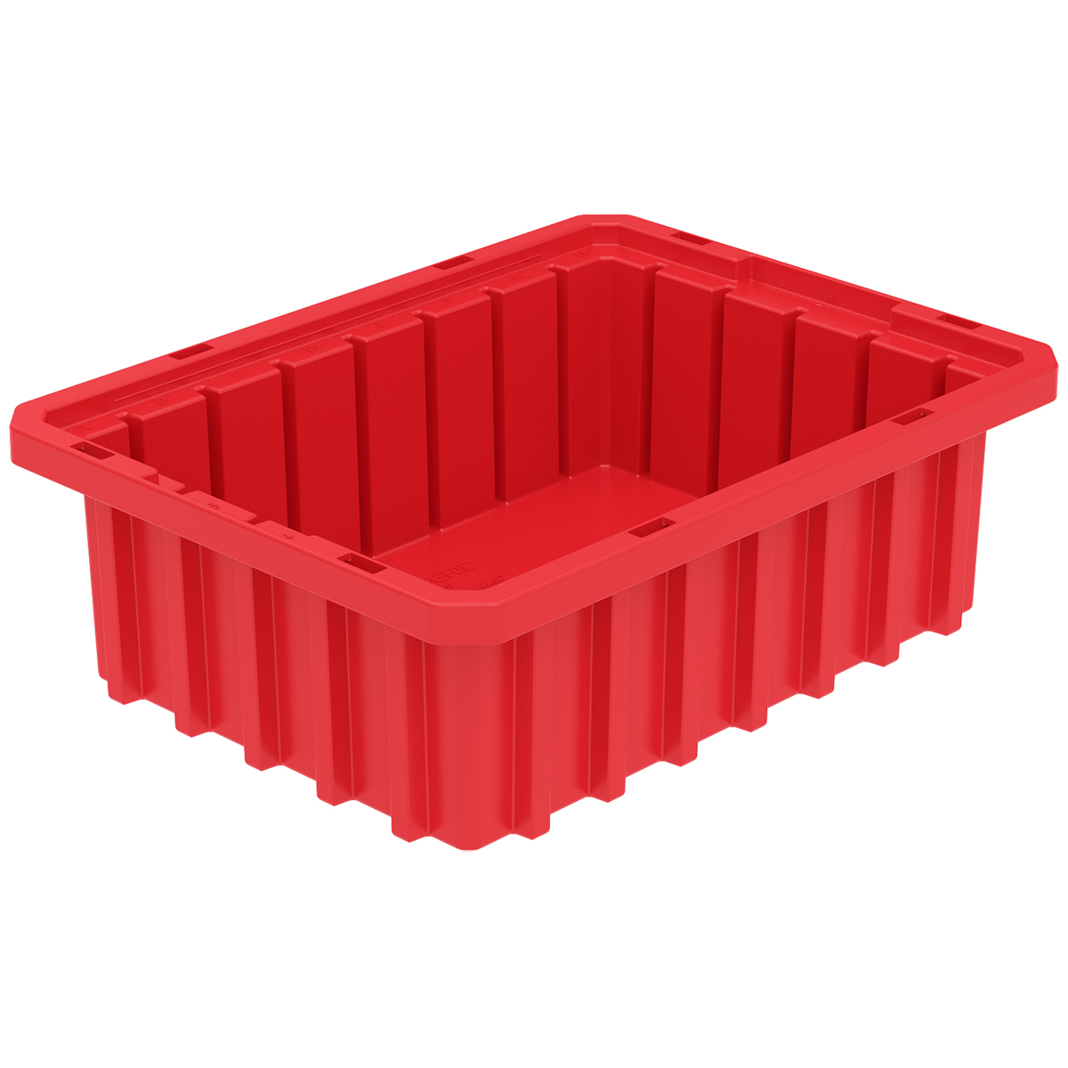 Akro-Grid Dividable Box 10-7/8 x 8-1/4 x 3-1/2, Red.  This item sold in carton quantities of 20.