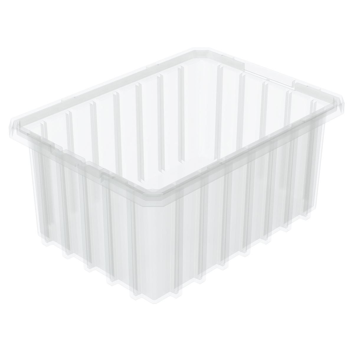 Akro-Grid Dividable Box 10-7/8 x 8-1/4 x 5, Clear (33105SCLAR).  This item sold in carton quantities of 20.