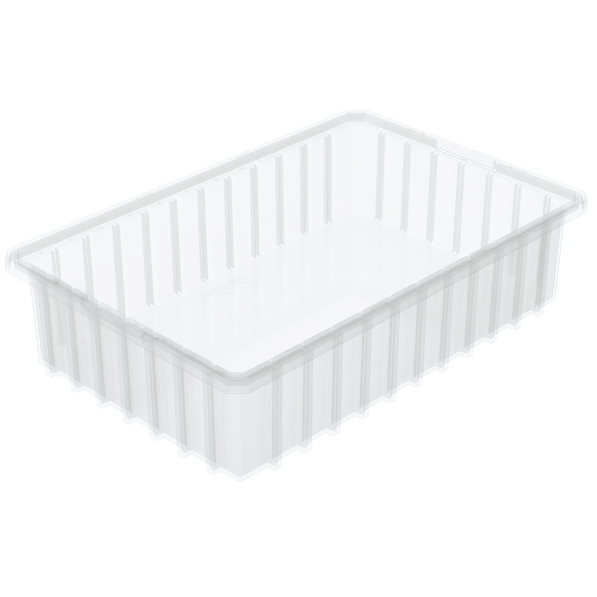 Akro-Grid Dividable Box 16-1/2 x 10-7/8 x 4, Clear (33164SCLAR).  This item sold in carton quantities of 12.