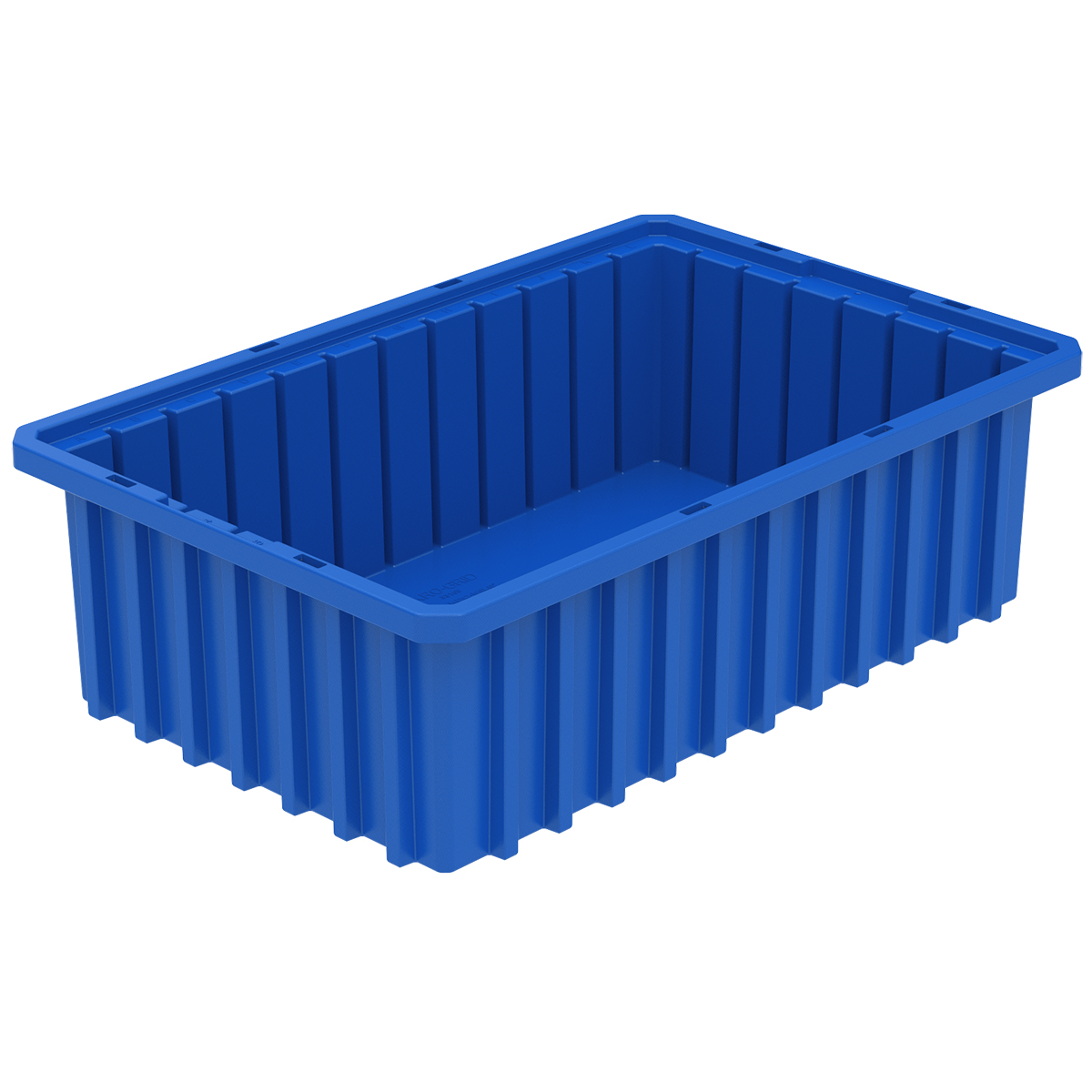 Akro-Grid Dividable Box 16-1/2 x 10-7/8 x 5, Blue.  This item sold in carton quantities of 12.