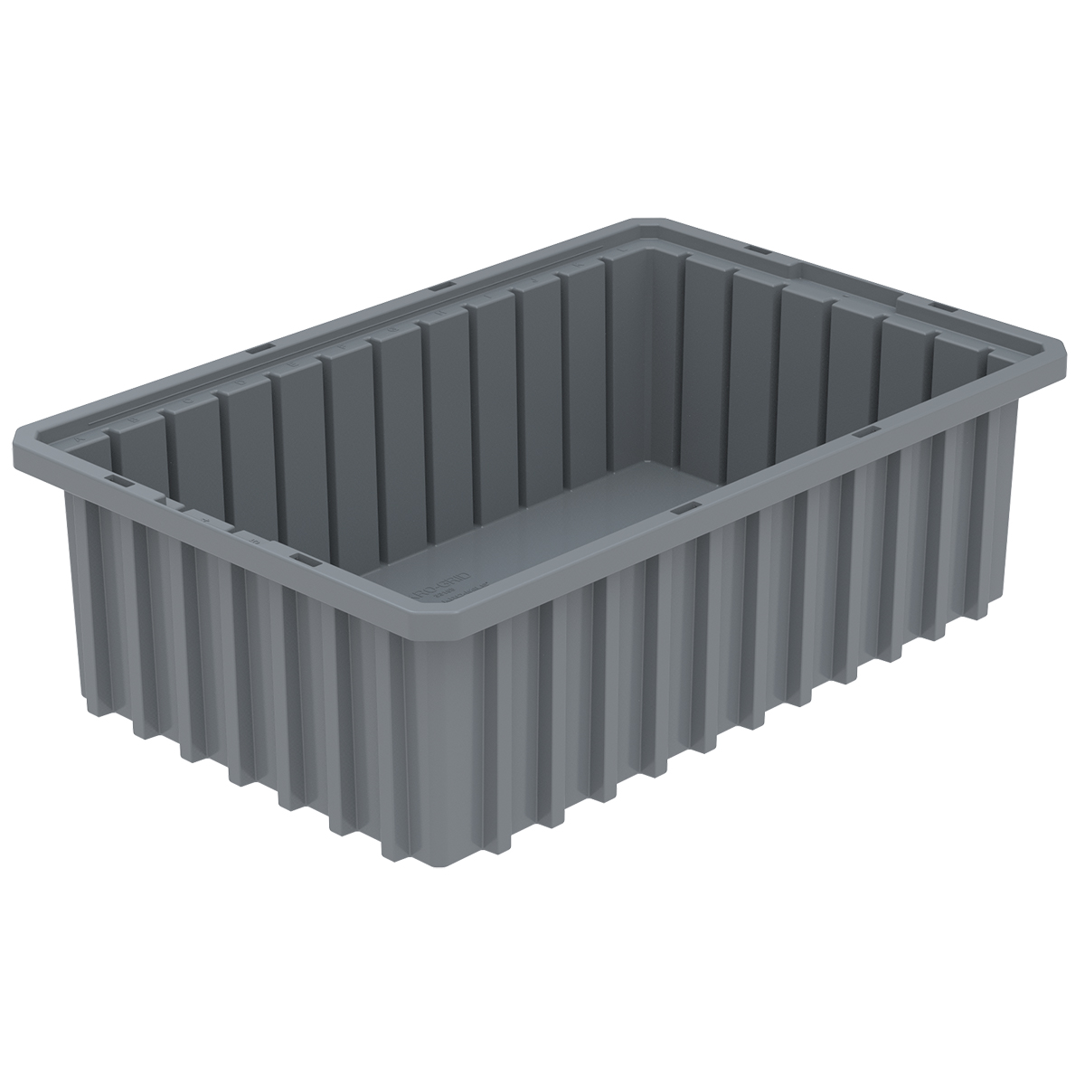 Akro-Grid Dividable Box 16-1/2 x 10-7/8 x 5, Gray.  This item sold in carton quantities of 12.