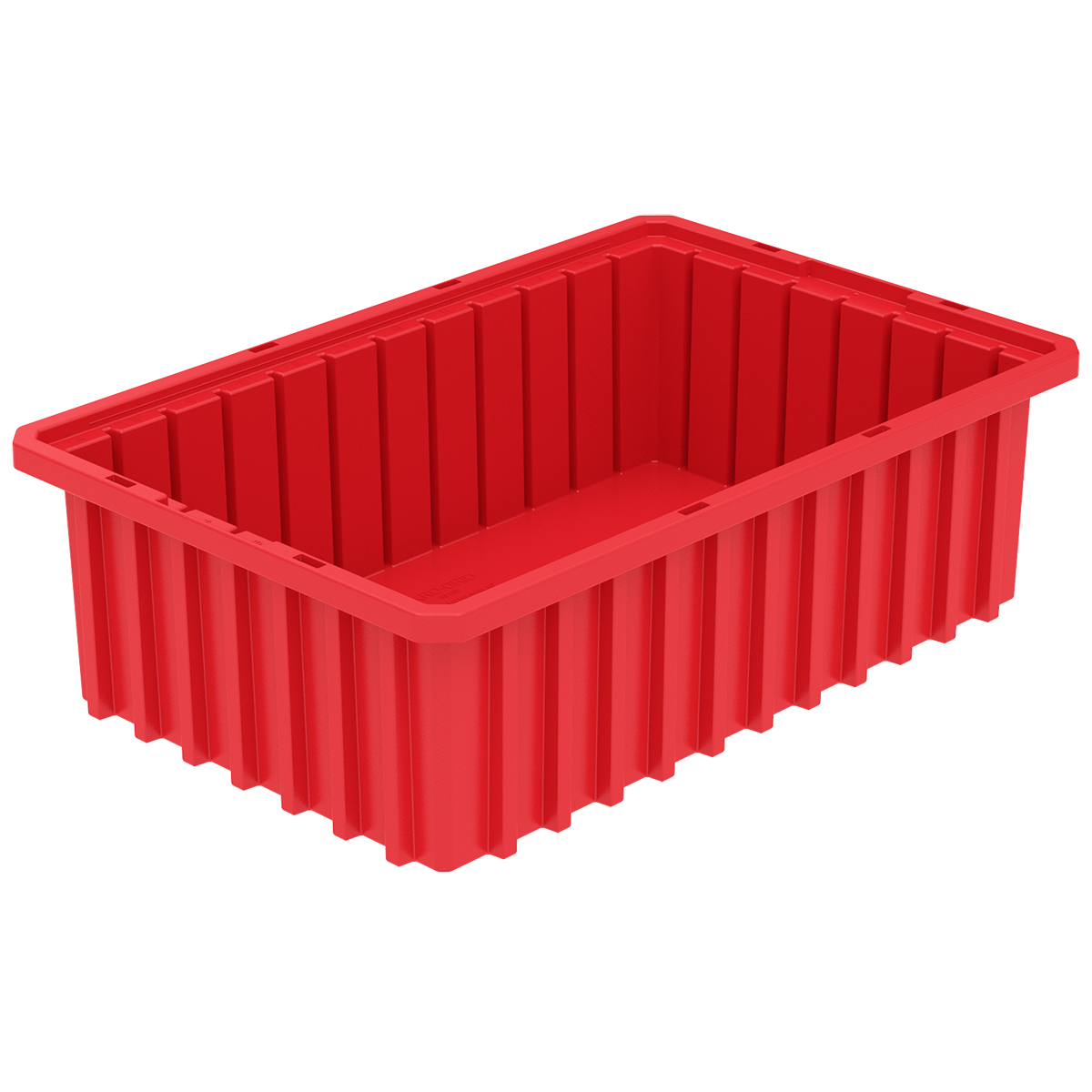 Akro-Grid Dividable Box 16-1/2 x 10-7/8 x 5, Red.  This item sold in carton quantities of 12.