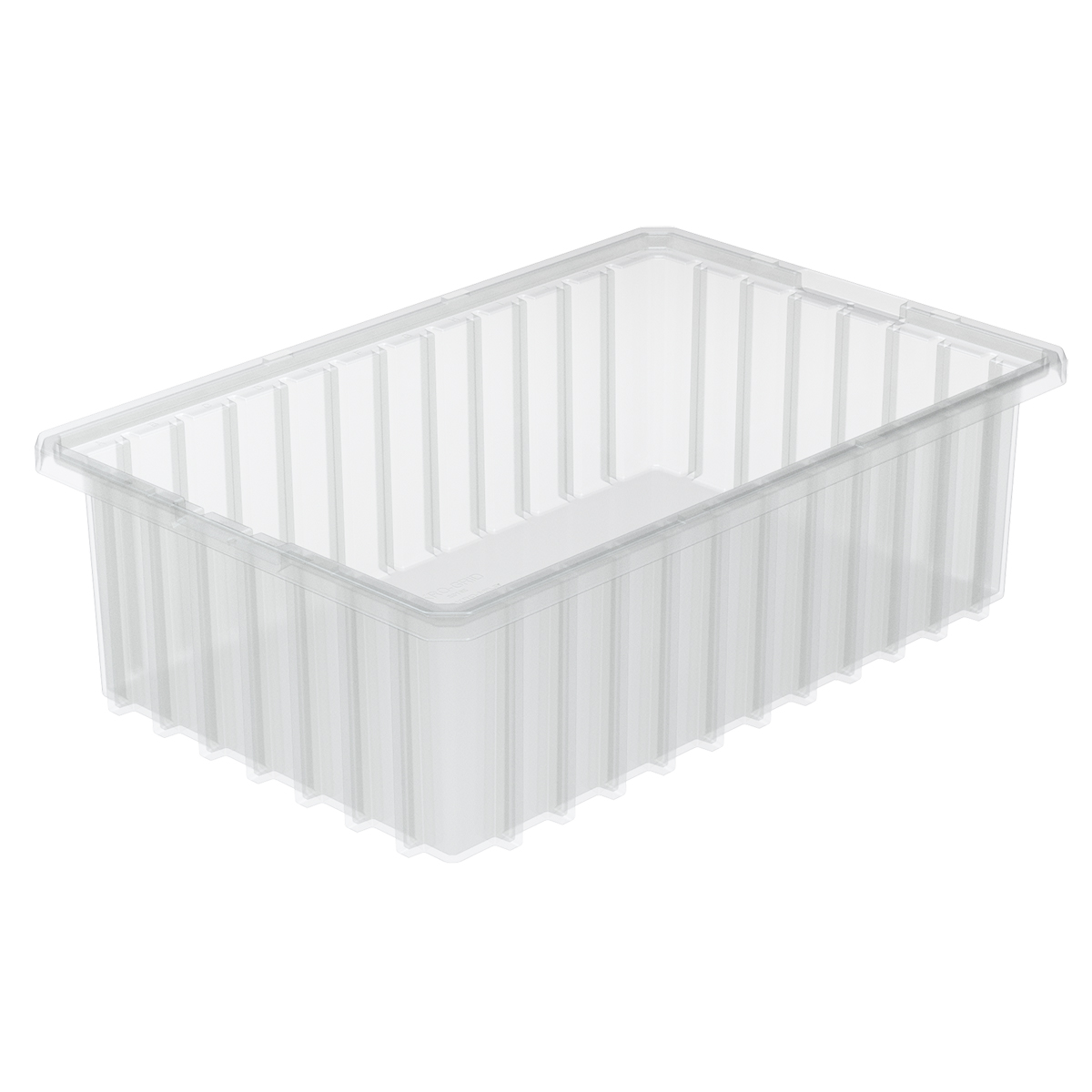 Akro-Grid Dividable Box 16-1/2 x 10-7/8 x 5, Clear.  This item sold in carton quantities of 12.