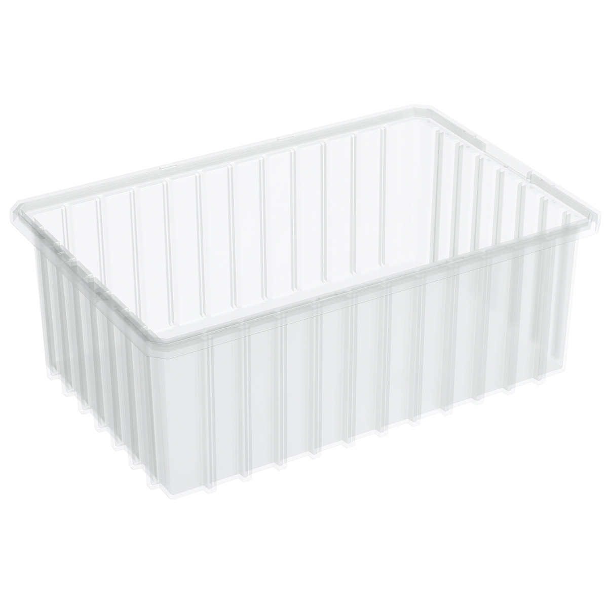 Akro-Grid Dividable Box 16-1/2 x 10-7/8 x 6, Clear (33166SCLAR).  This item sold in carton quantities of 8.