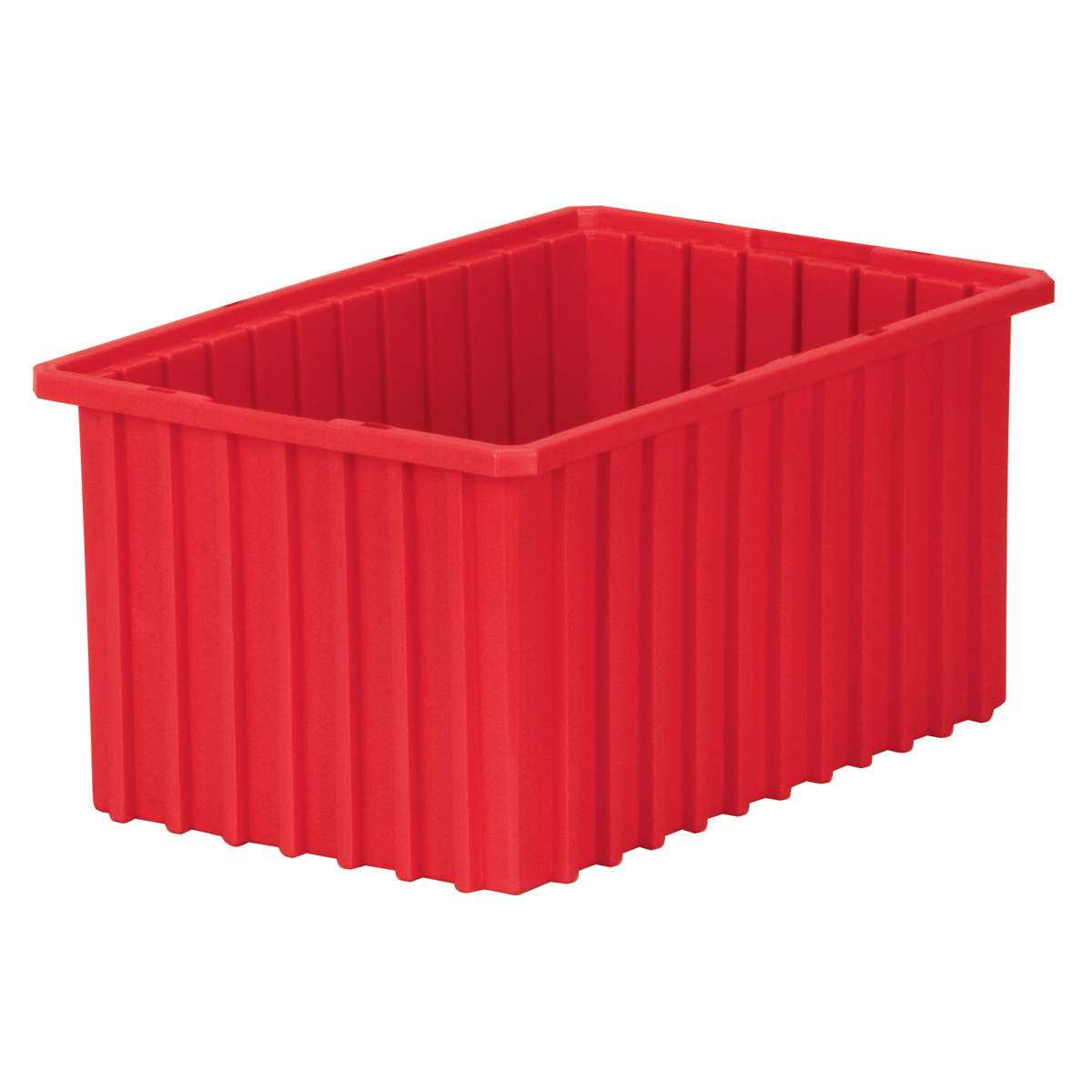 Akro-Grid Dividable Box 16-1/2 x 10-7/8 x 8, Red (33168RED).  This item sold in carton quantities of 6.