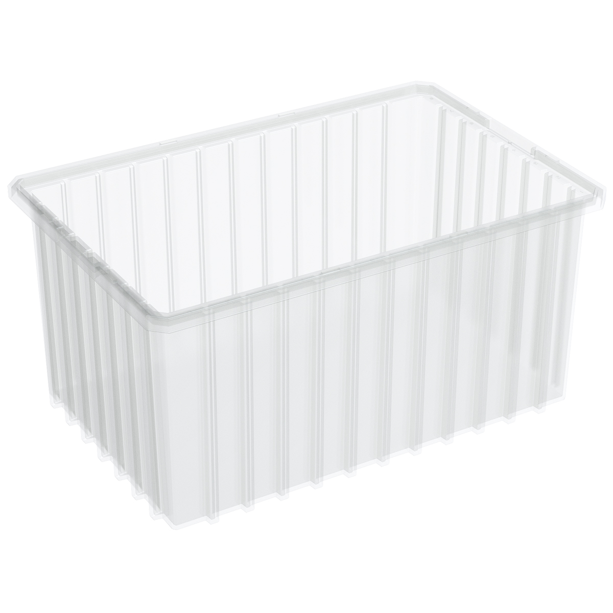 Akro-Grid Dividable Box 16-1/2 x 10-7/8 x 8, Clear (33168SCLAR).  This item sold in carton quantities of 6.