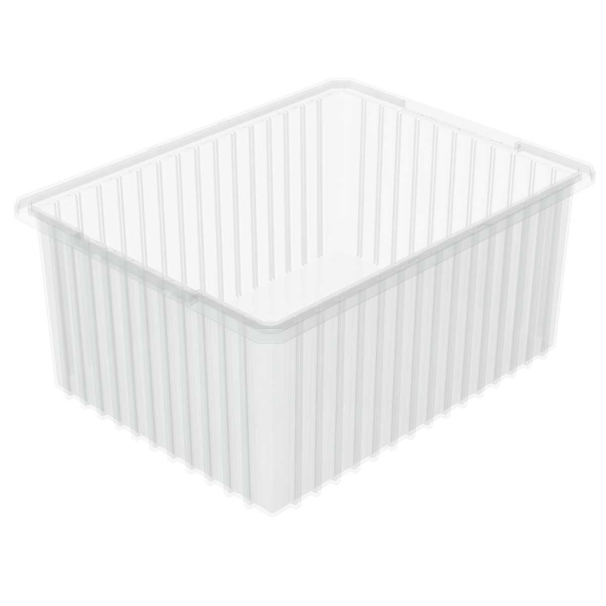 Akro-Grid Dividable Box 22-3/8 x 17-3/8 x 10, Clear (33220SCLAR).  This item sold in carton quantities of 2.