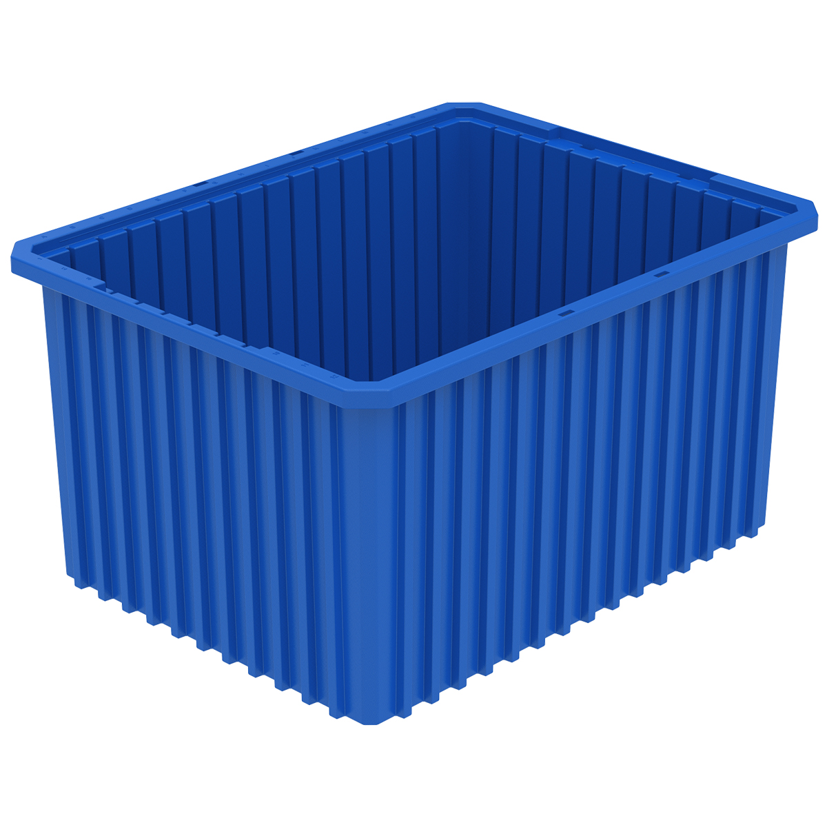 Akro-Grid Dividable Box 22-1/2 x 17-1/2 x 12, Blue .  This item sold in carton quantities of 3.