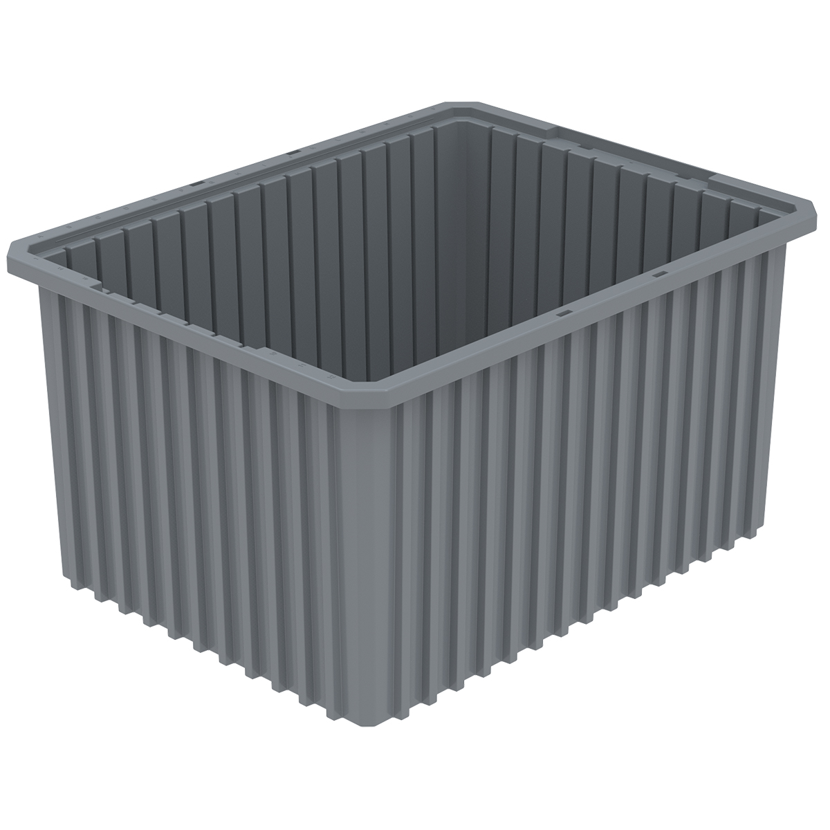 Akro-Grid Dividable Box 22-1/2 x 17-1/2 x 12, Gray.  This item sold in carton quantities of 3.