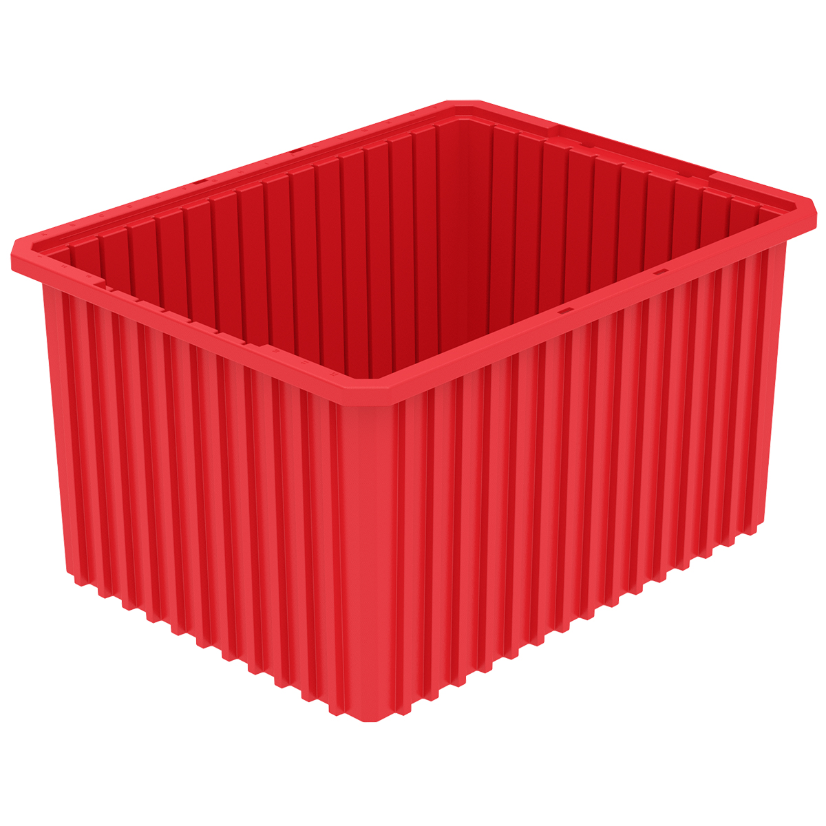 Akro-Grid Dividable Box 22-1/2 x 17-1/2 x 12, Red.  This item sold in carton quantities of 3.