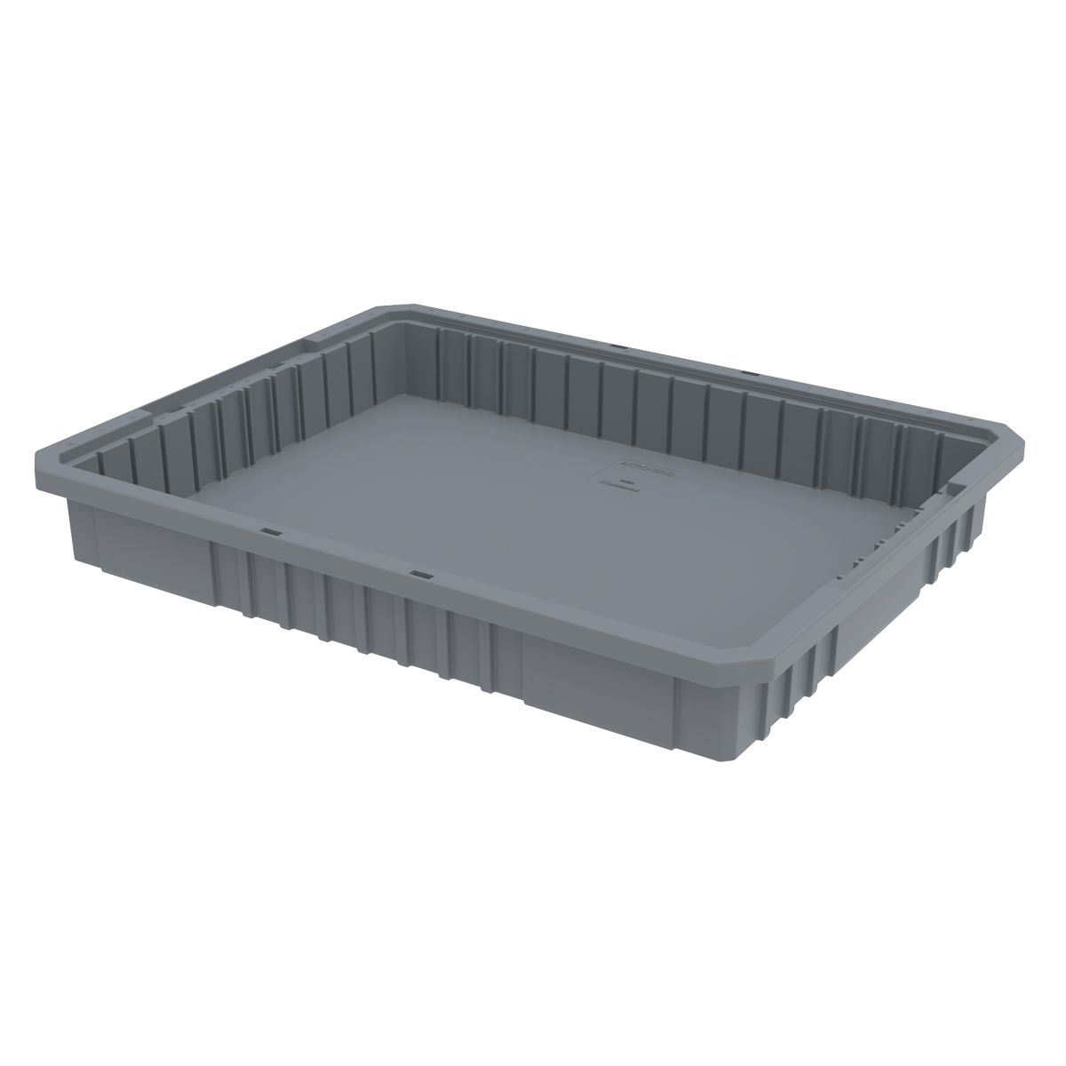 Akro-Grid Dividable Box 22-1/2 x 17-3/8 x 3, Gray (33223GREY).  This item sold in carton quantities of 6.