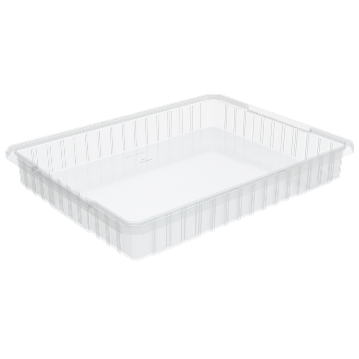 Akro-Grid Dividable Box 22-1/2 x 17-3/8 x 3, Clear (33223SCLAR).  This item sold in carton quantities of 6.