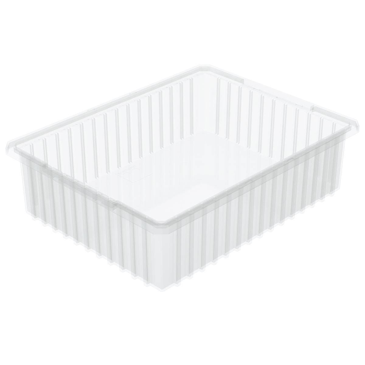 Akro-Grid Dividable Box 22-3/8 x 17-3/8 x 6, Clear (33226SCLAR).  This item sold in carton quantities of 4.