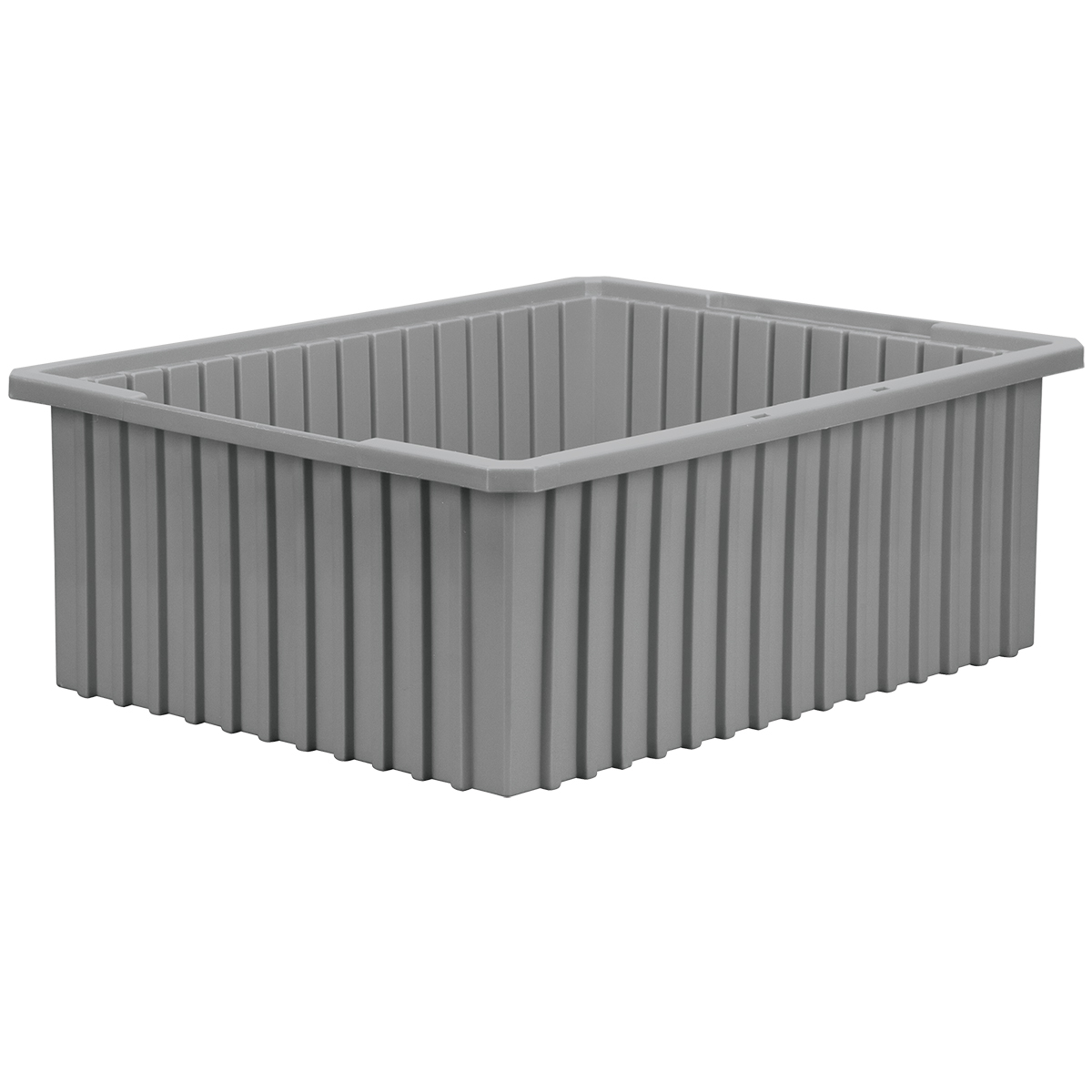 Akro-Grid Dividable Box 22-3/8 x 17-3/8 x 8, Gray (33228GREY).  This item sold in carton quantities of 3.