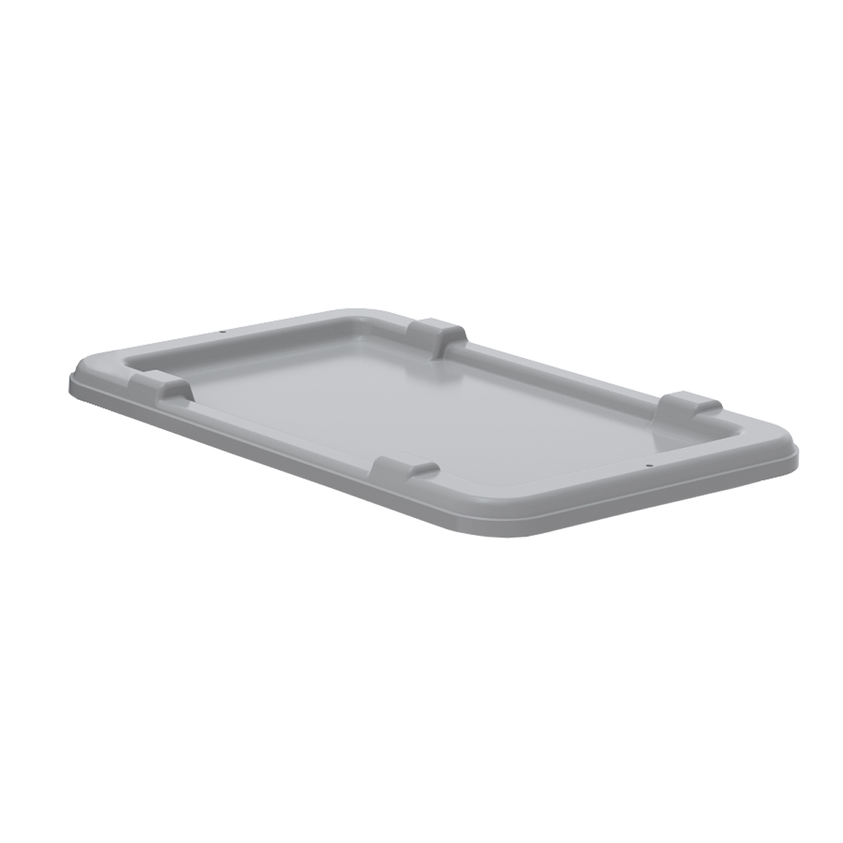 Lid for Cross-Stack Akro-Tub 34305, Gray (34005GREY).  This item sold in carton quantities of 6.