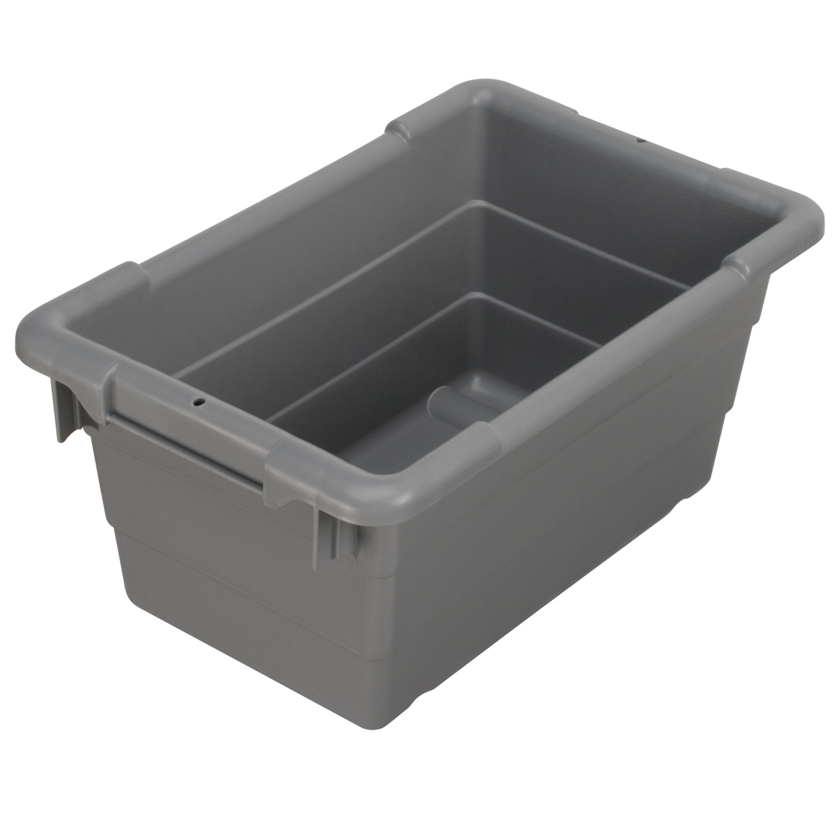Cross-Stack Akro-Tub 17 x 11 x 8, Gray (34301).  This item sold in carton quantities of 6.