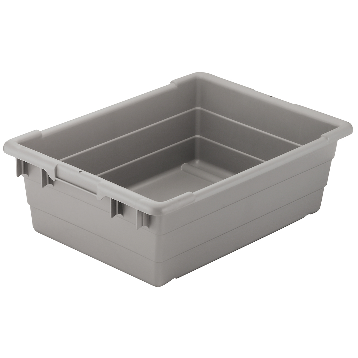 Cross-Stack Akro-Tub 25 x 16 x 8, Gray (34305GREY).  This item sold in carton quantities of 6.