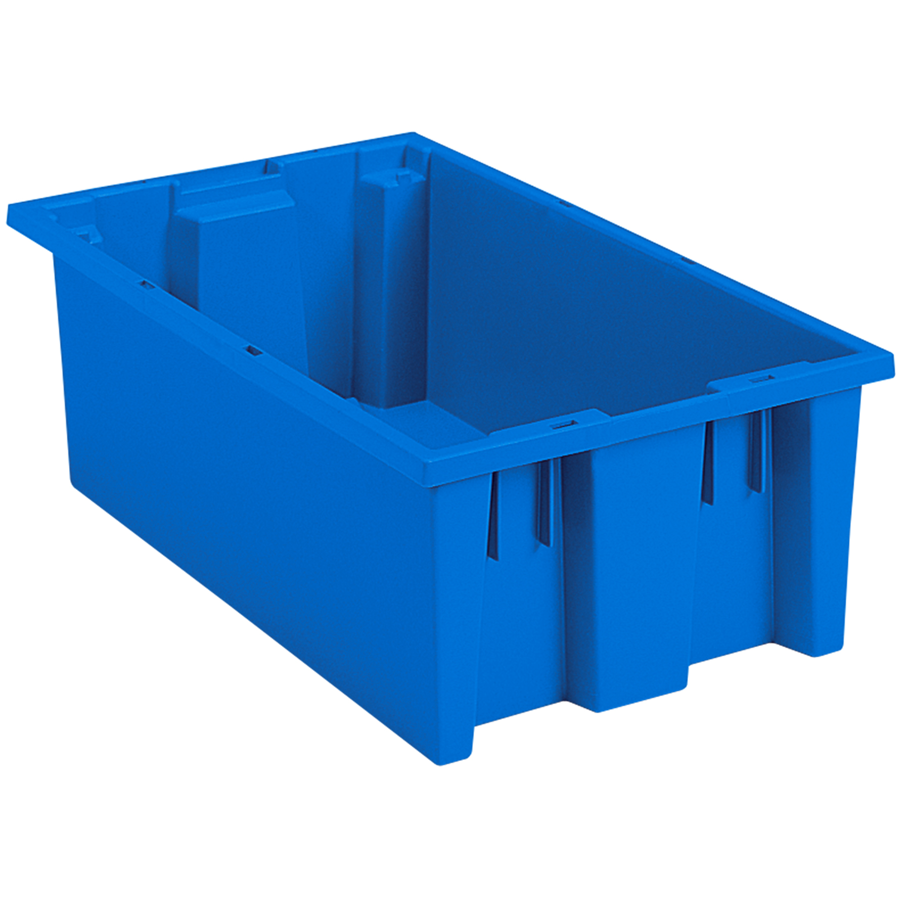 Nest & Stack Tote 18 x 11 x 6, Blue (35180BLUE).  This item sold in carton quantities of 6.