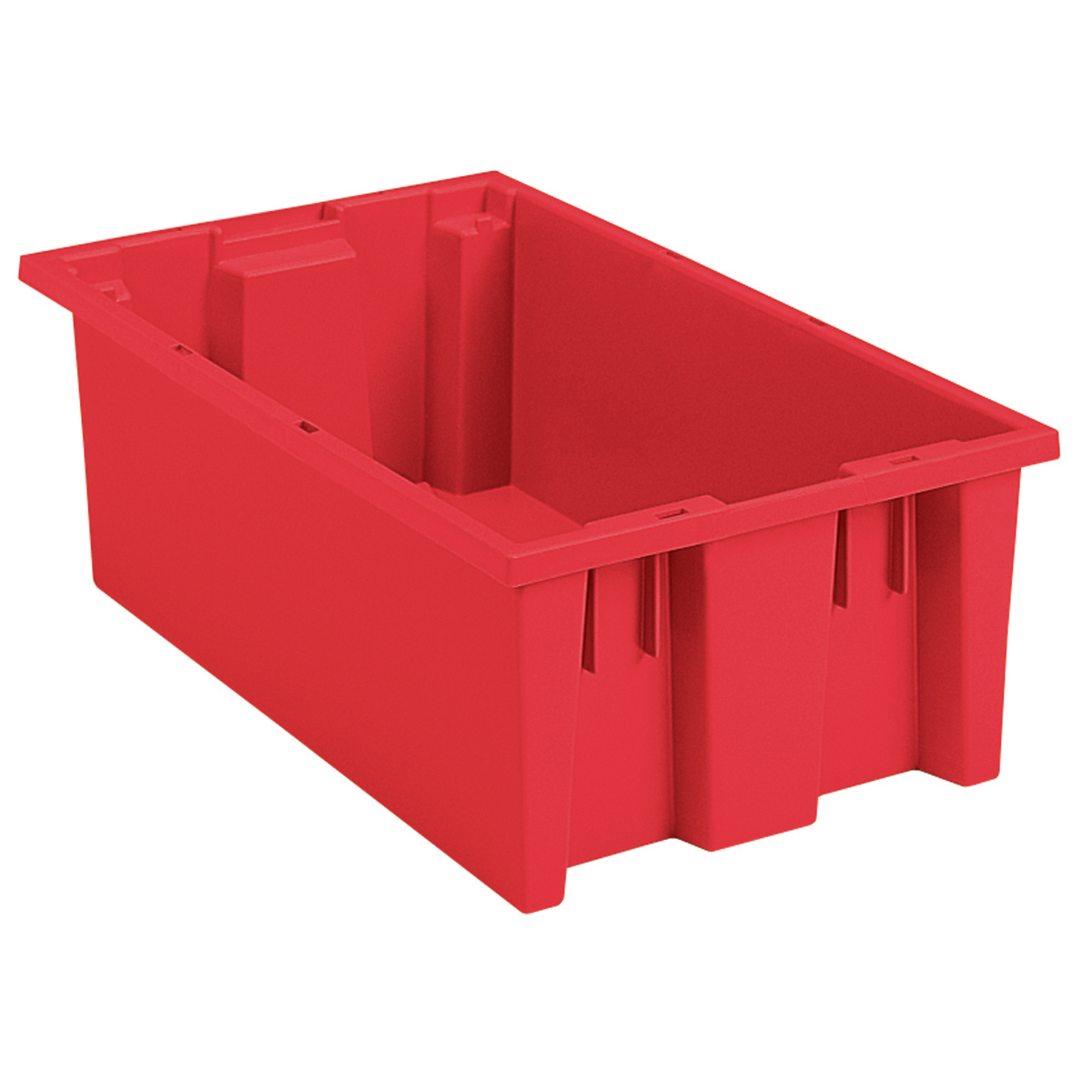 Nest & Stack Tote 18 x 11 x 6, Red (35180RED).  This item sold in carton quantities of 6.