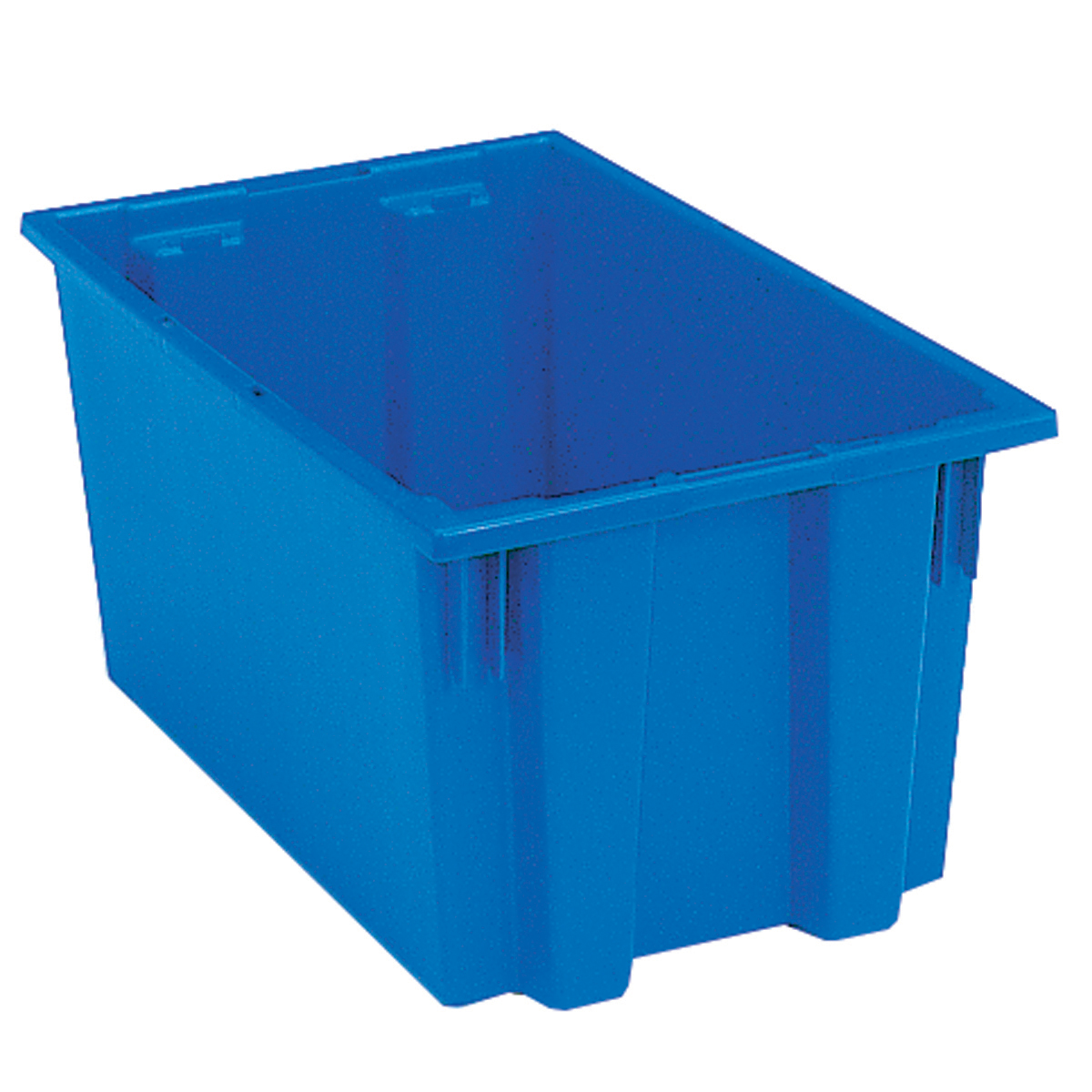 Nest & Stack Tote 18 x 11, 9, Blue (35185BLUE).  This item sold in carton quantities of 6.
