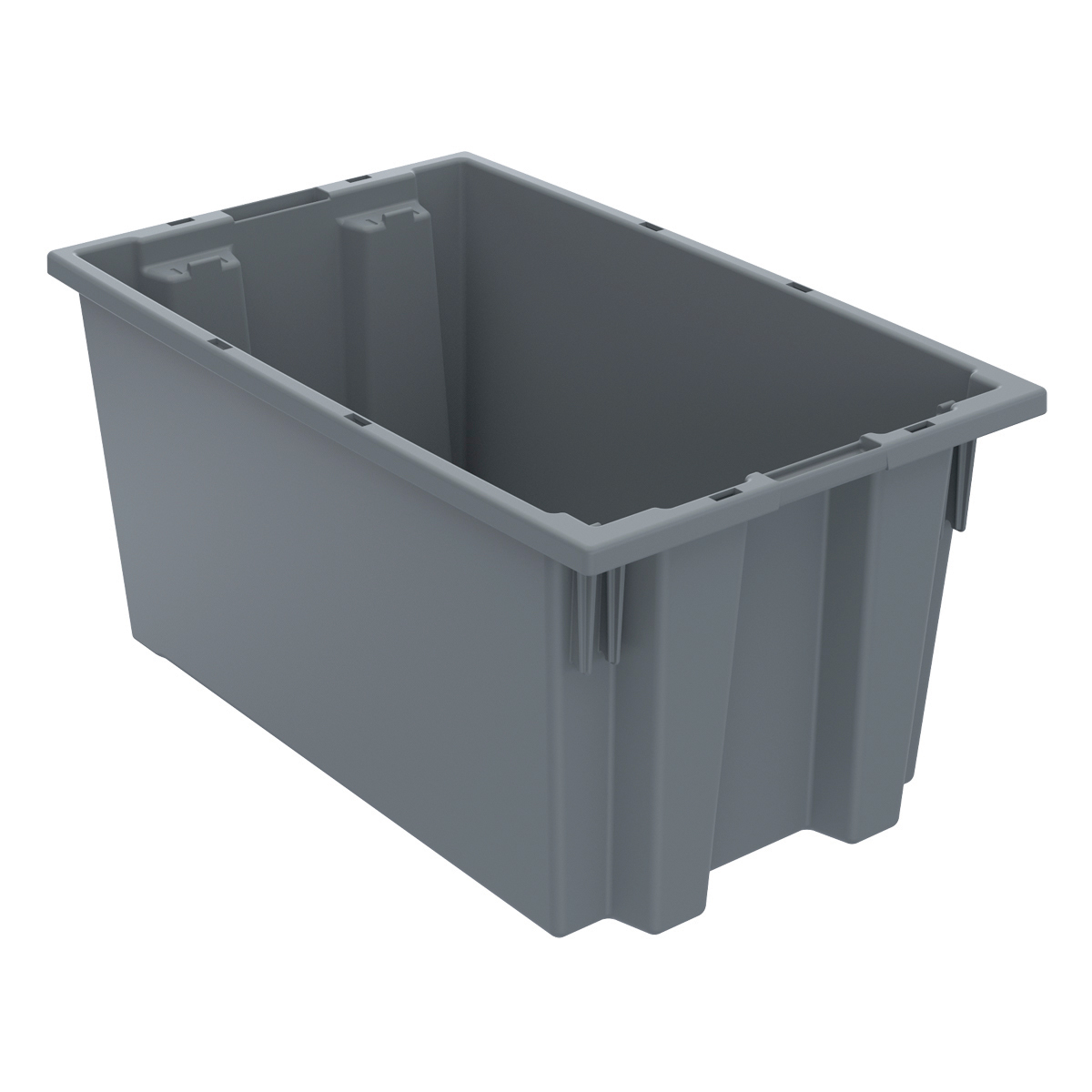 Nest & Stack Tote 18 x 11, 9, Gray (35185GREY).  This item sold in carton quantities of 6.