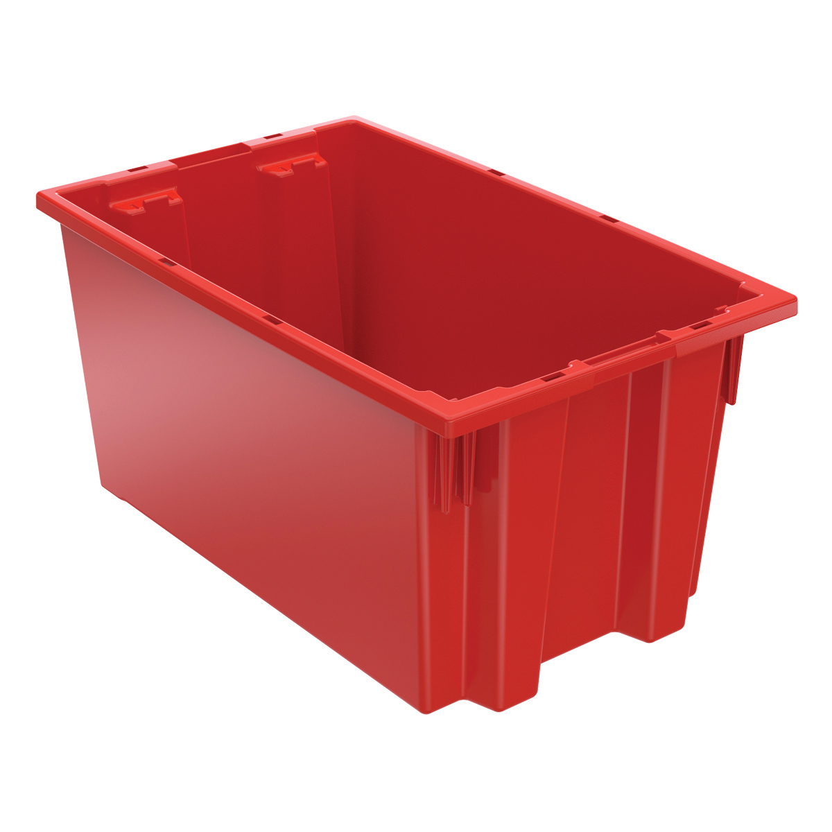 Nest & Stack Tote 18 x 11, 9, Red (35185RED).  This item sold in carton quantities of 6.