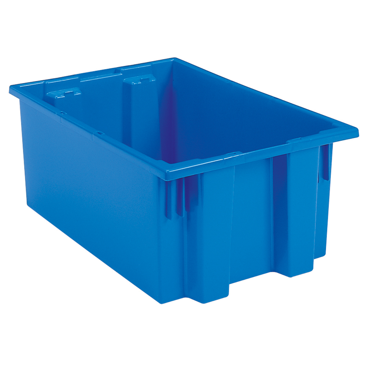 Nest & Stack Tote 19-1/2 x 15-1/2 x 10, Blue (35190BLUE).  This item sold in carton quantities of 6.