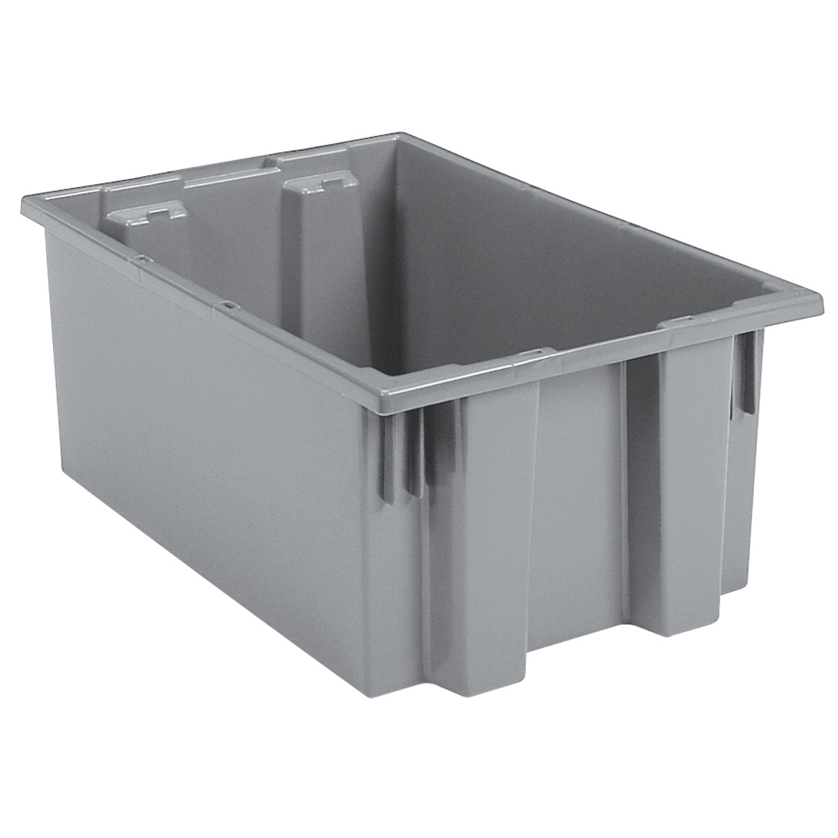 Nest & Stack Tote 19-1/2 x 15-1/2 x 10, Gray (35190GREY).  This item sold in carton quantities of 6.