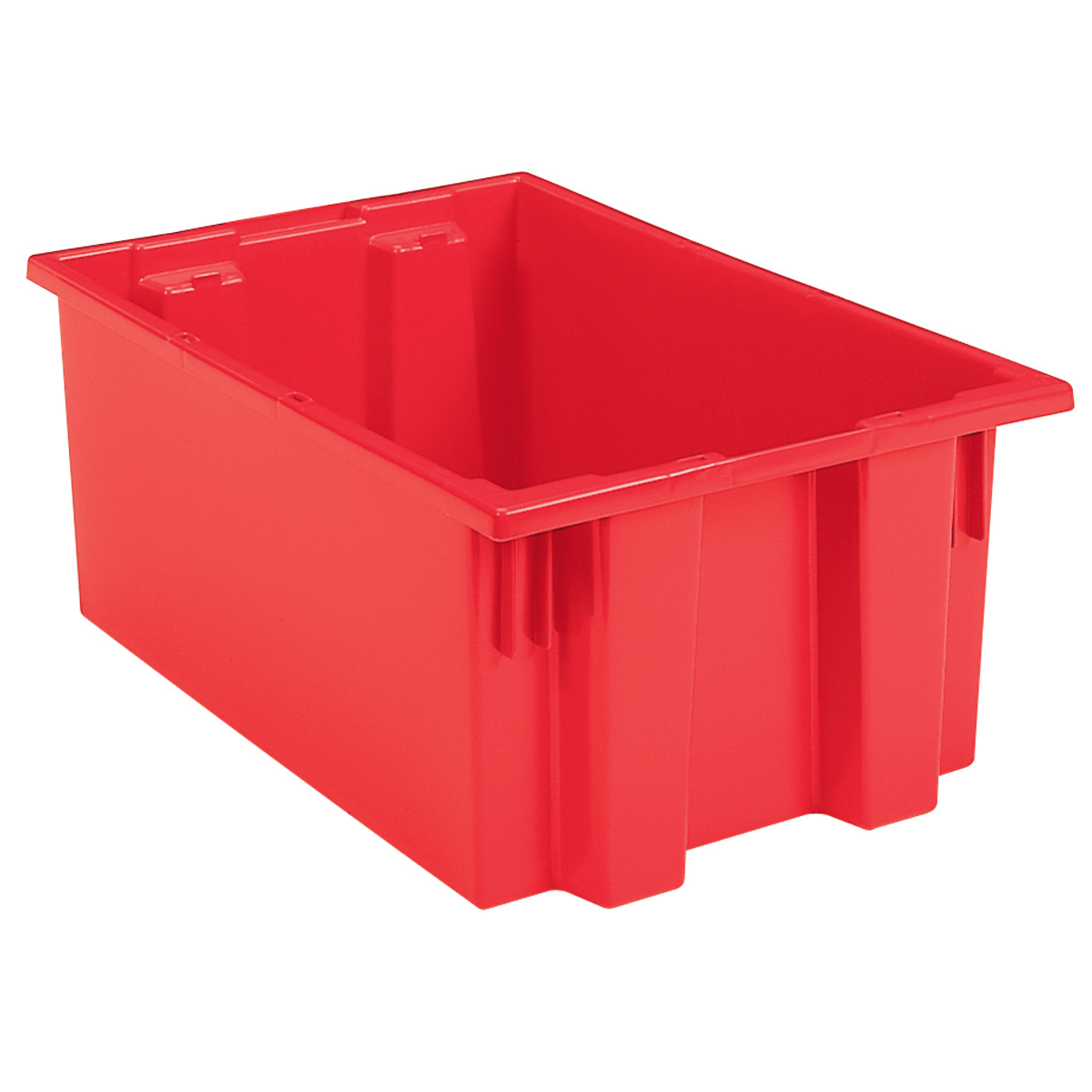 Nest & Stack Tote 19-1/2 x 15-1/2 x 10, Red (35190RED).  This item sold in carton quantities of 6.