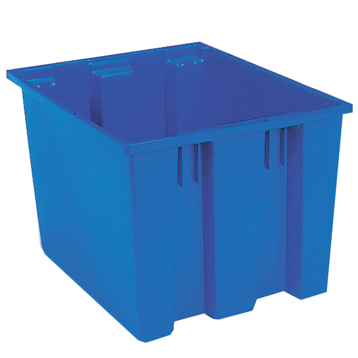 Nest & Stack Tote 19-1/2 x 15-1/2 x 13, Blue (35195BLUE).  This item sold in carton quantities of 6.