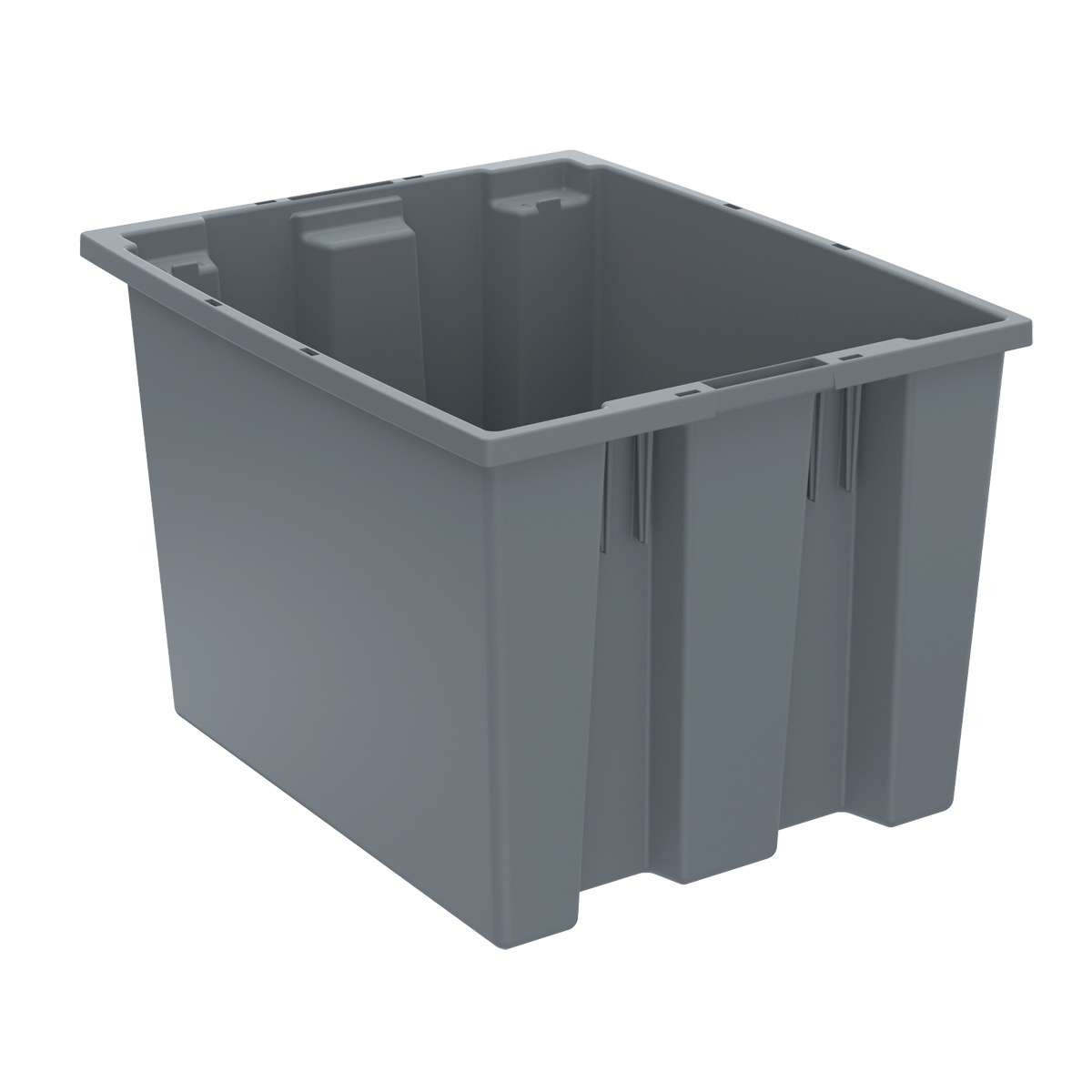 Nest & Stack Tote 19-1/2 x 15-1/2 x 13, Gray (35195GREY).  This item sold in carton quantities of 6.