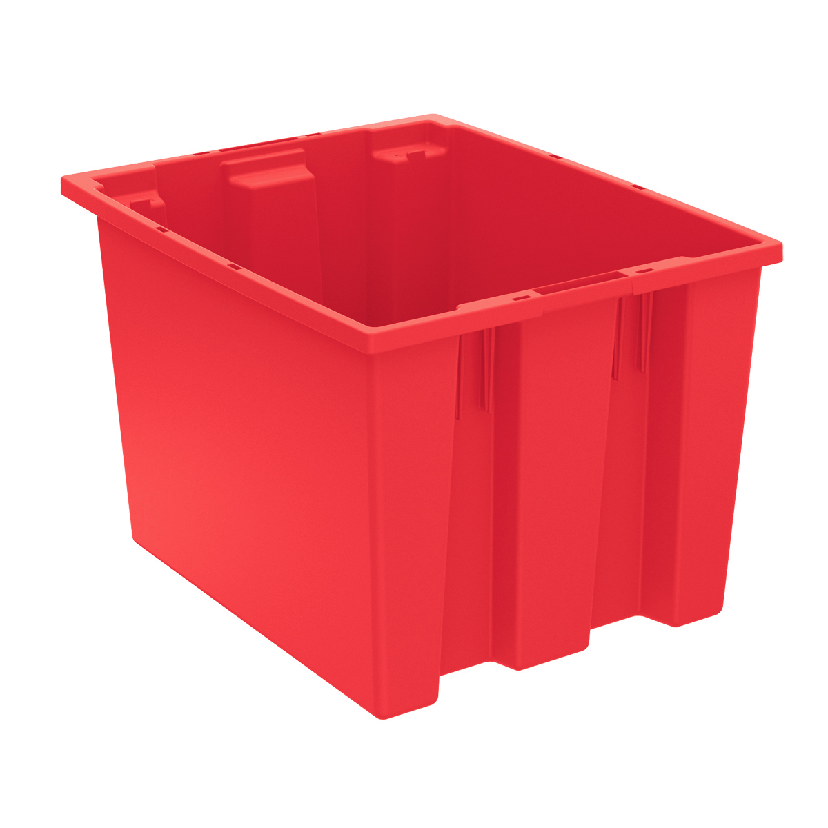 Nest & Stack Tote 19-1/2 x 15-1/2 x 13, Red (35195RED).  This item sold in carton quantities of 6.